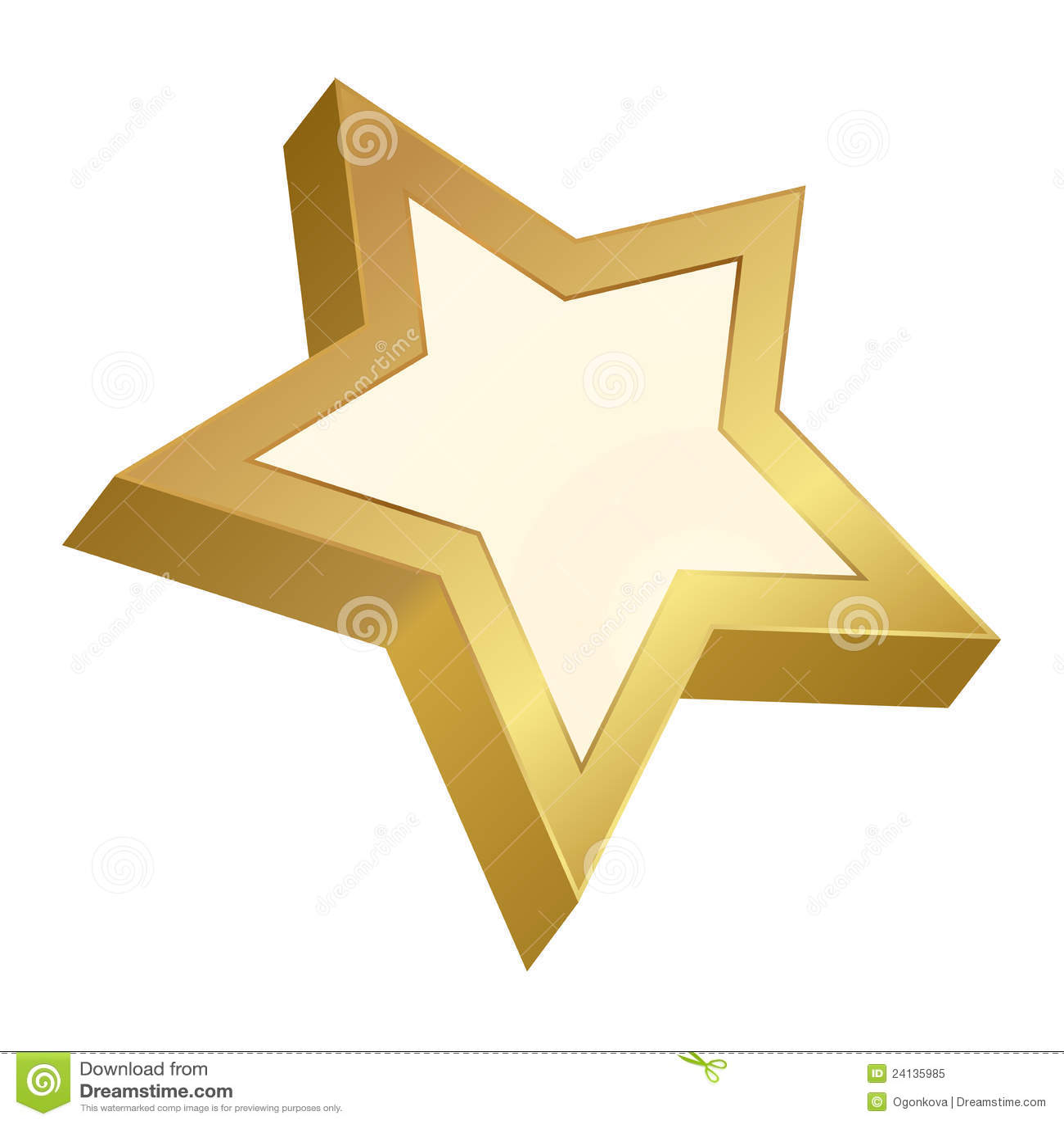 Adesivo De Estrela Dourada ~ Estrela dourada ilustraç u00e3o do vetor Imagem de vazio 24135985