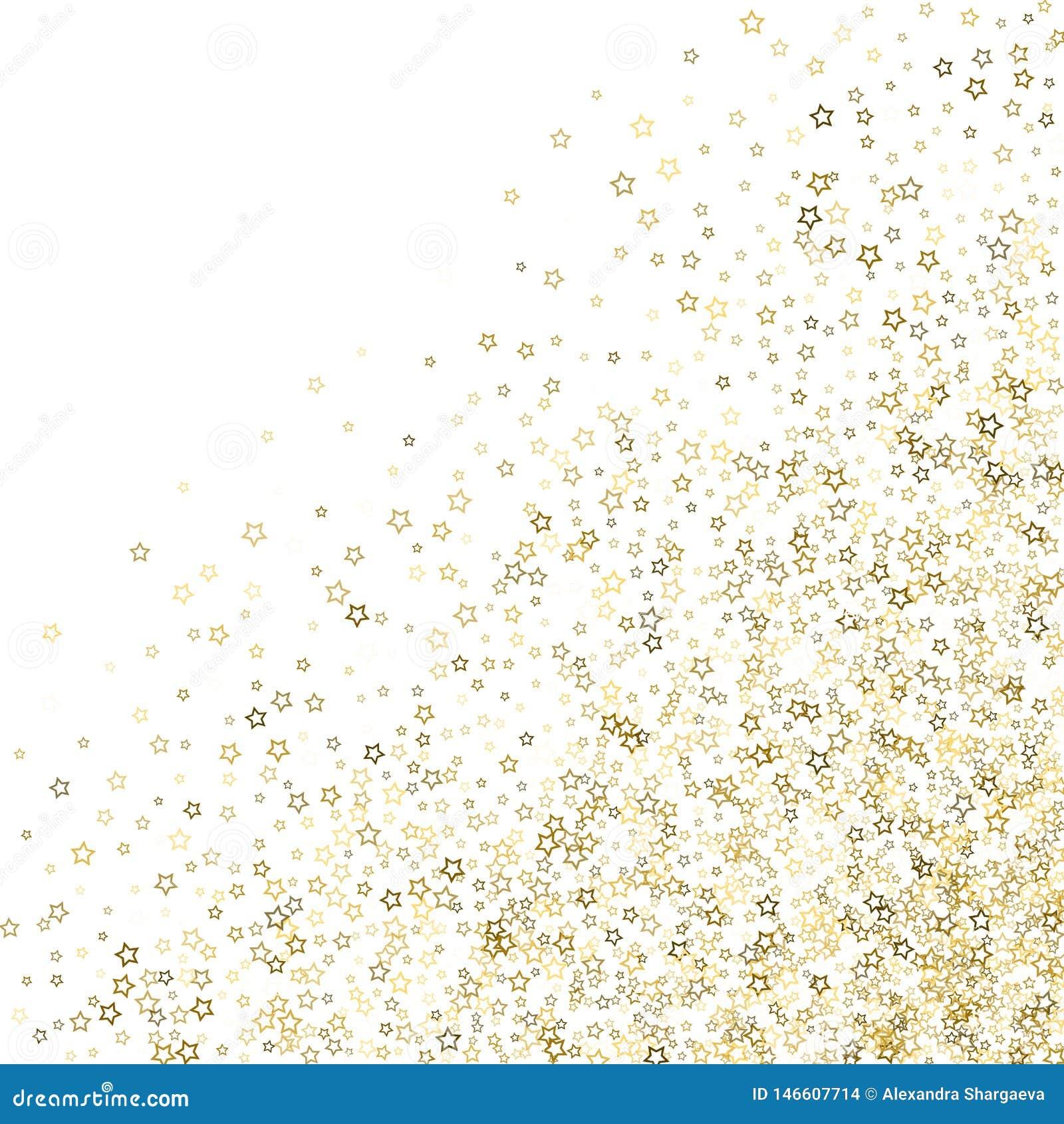 Estrelas do brilho Natal min?sculo do ouro dos confetes luxuosos