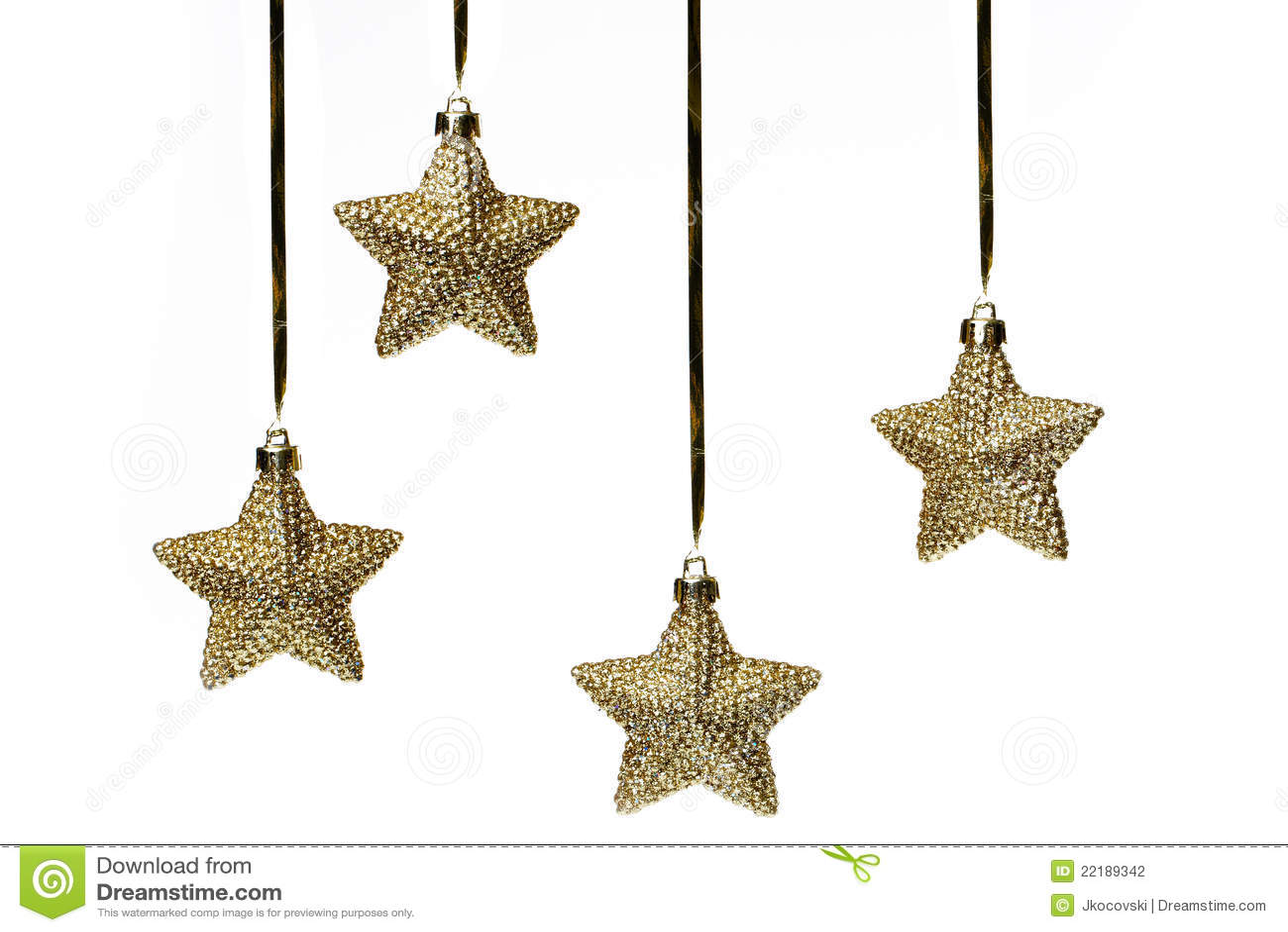Estrelas do Natal no branco