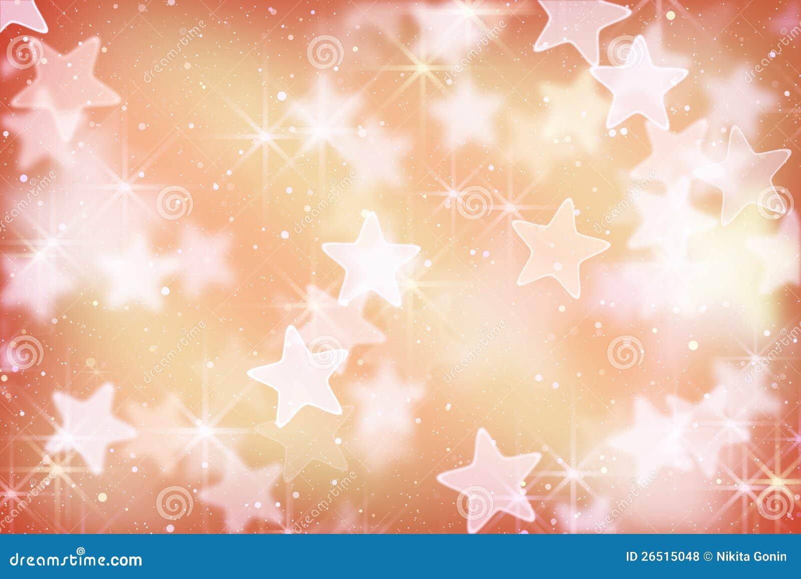 Estrelas e luzes cor-de-rosa do bokeh