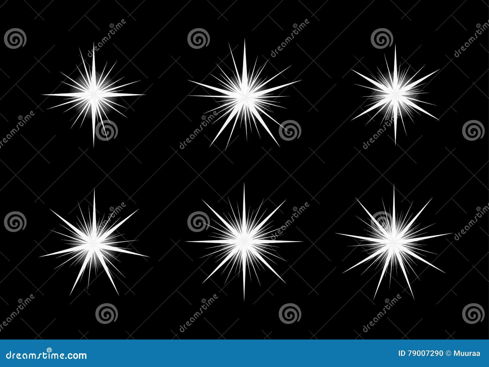 Estrelas shinning brancas no fundo preto