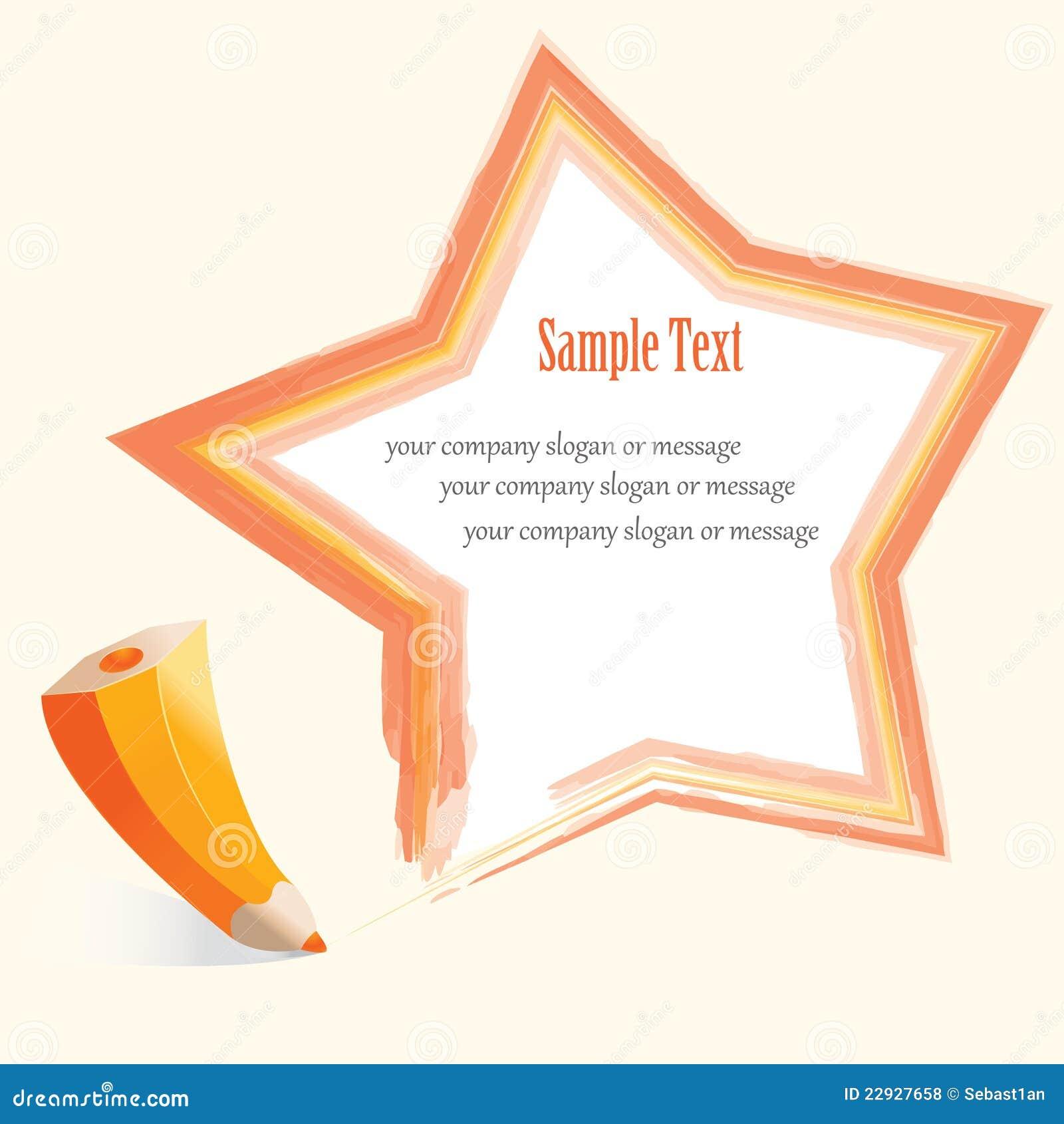 Estrella abstracta del lápiz