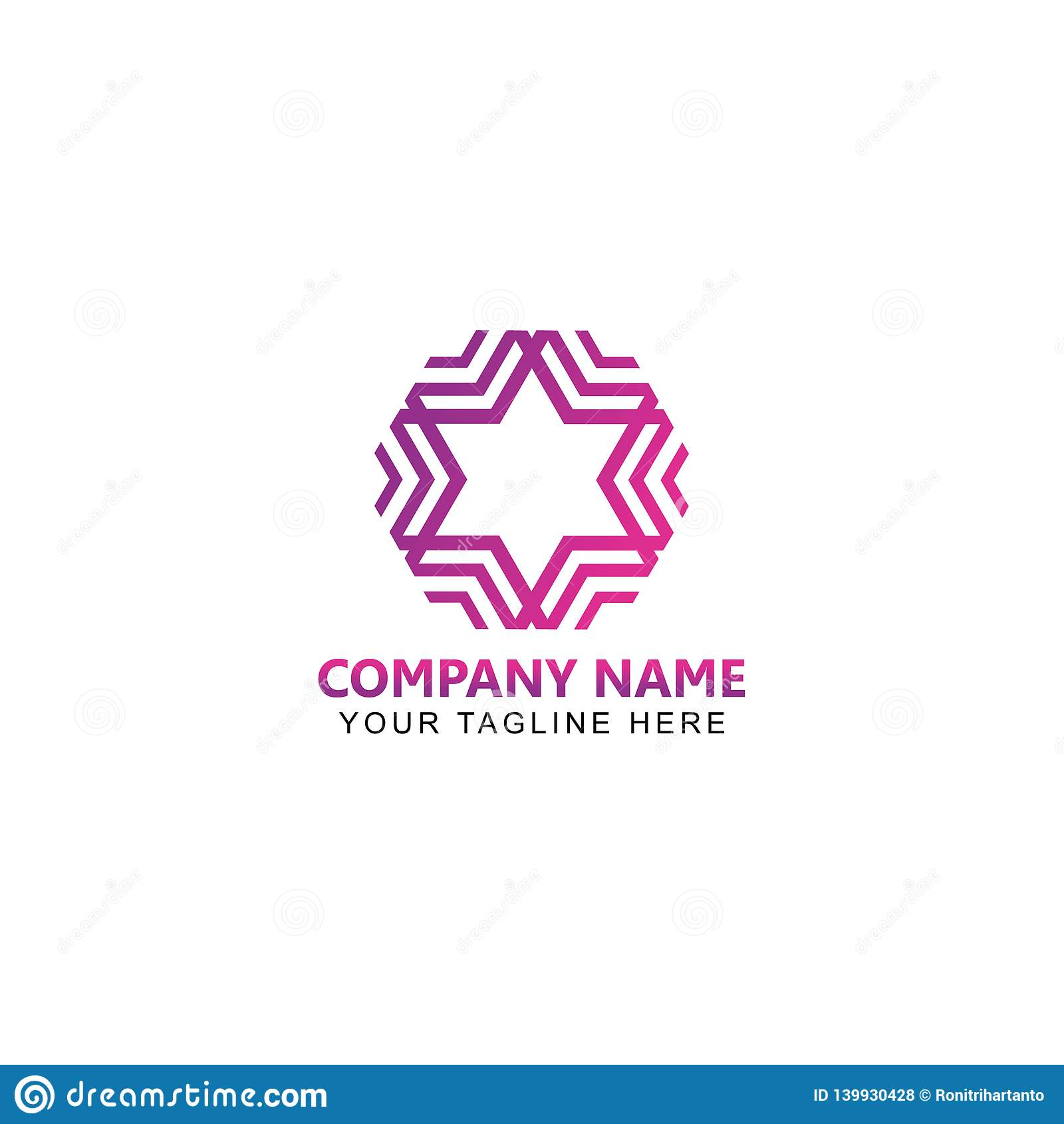 Estrella abstracta Logo Vector Design