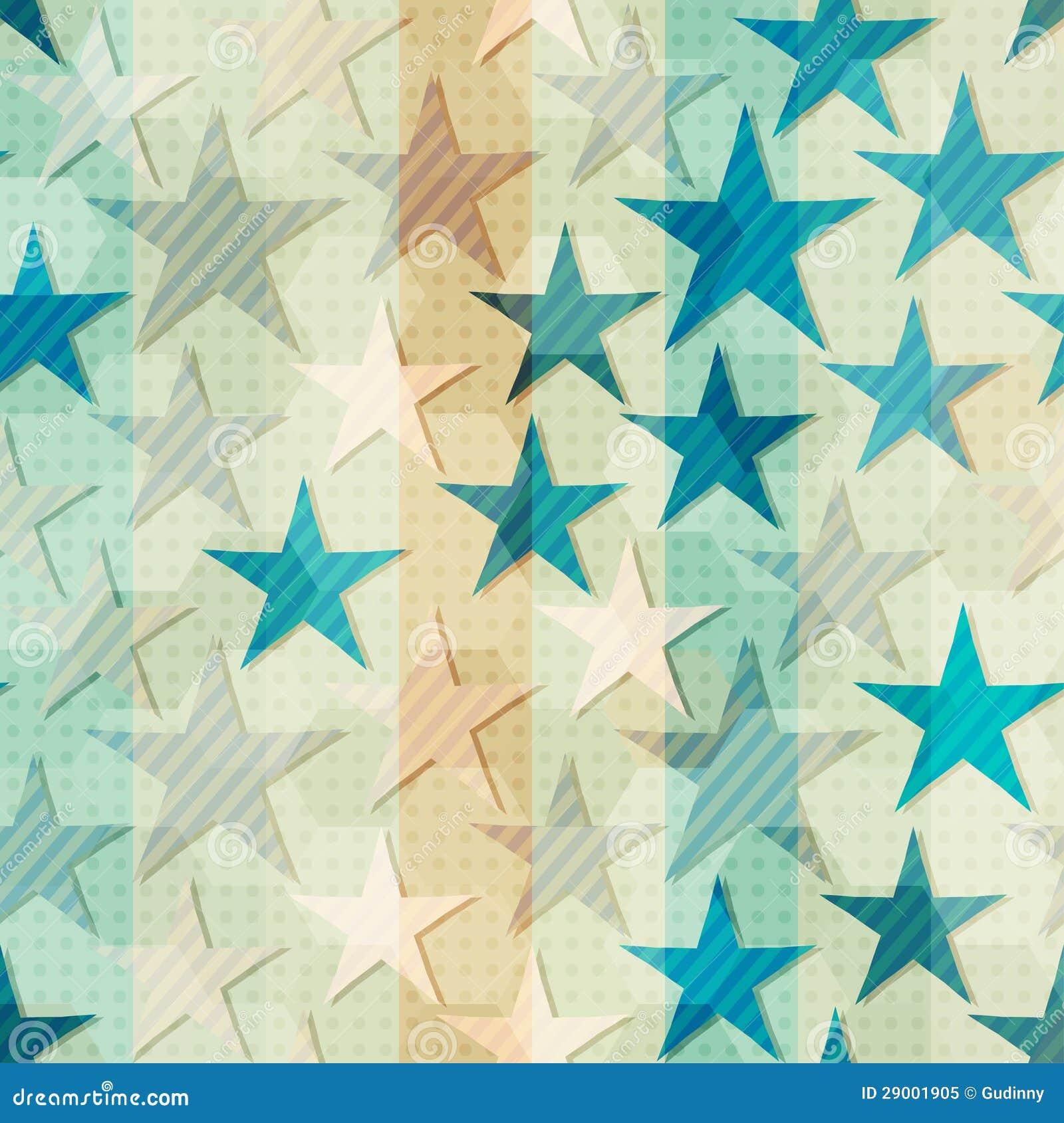 Estrella azul abstracta inconsútil