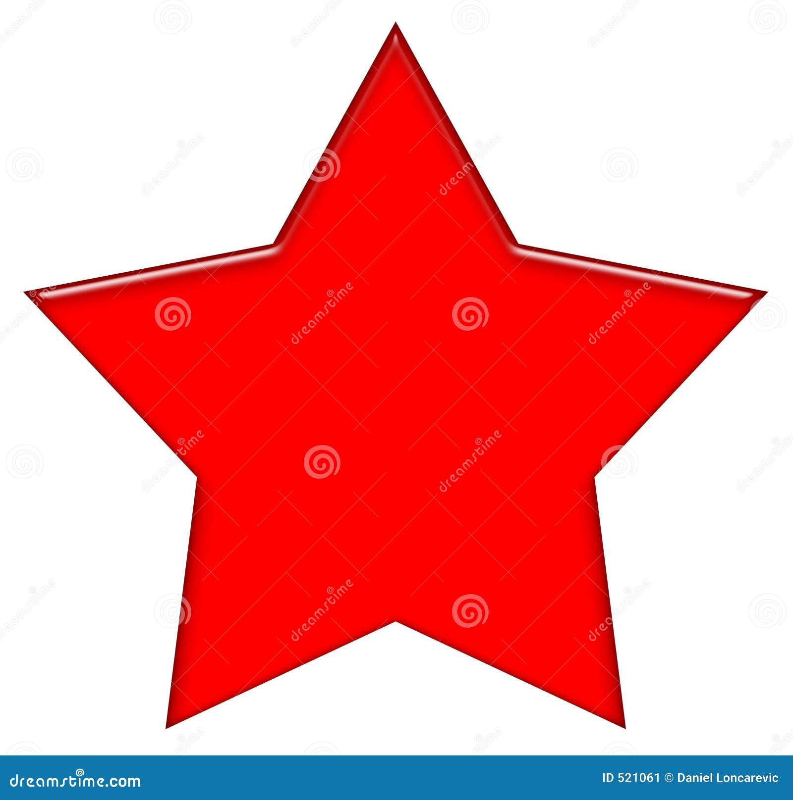 Ilustraci 243 n roja de la estrella de 5 puntas en el fondo blanco
