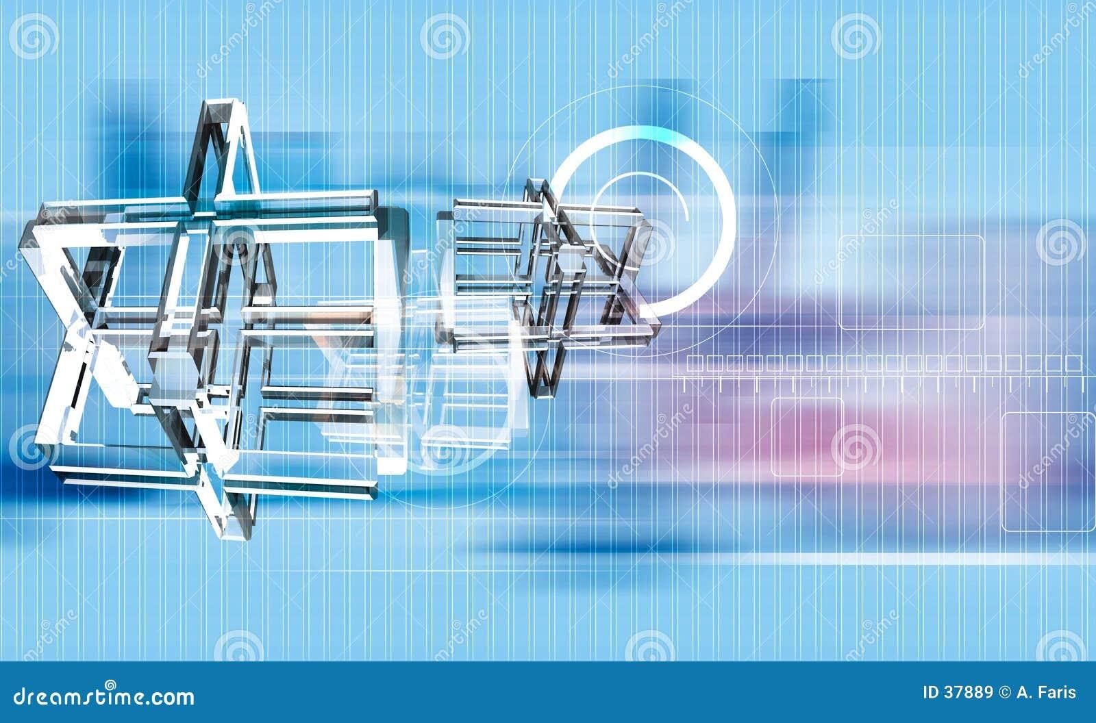 Download Estrella De David En El Movimiento Stock de ilustración - Ilustración de emblema, hebreo: 37889