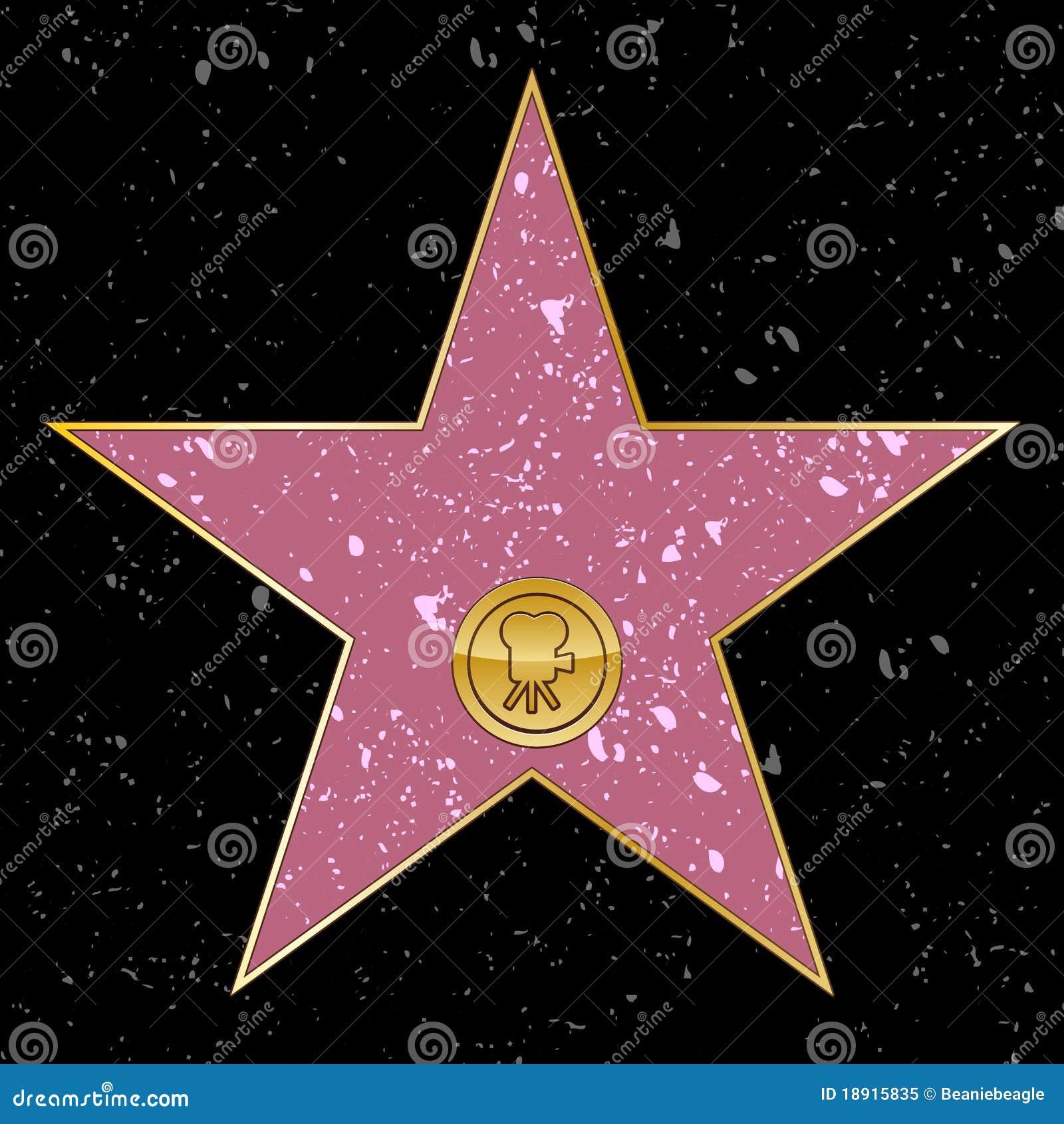 estrella de hollywood foto de archivo libre de regal as