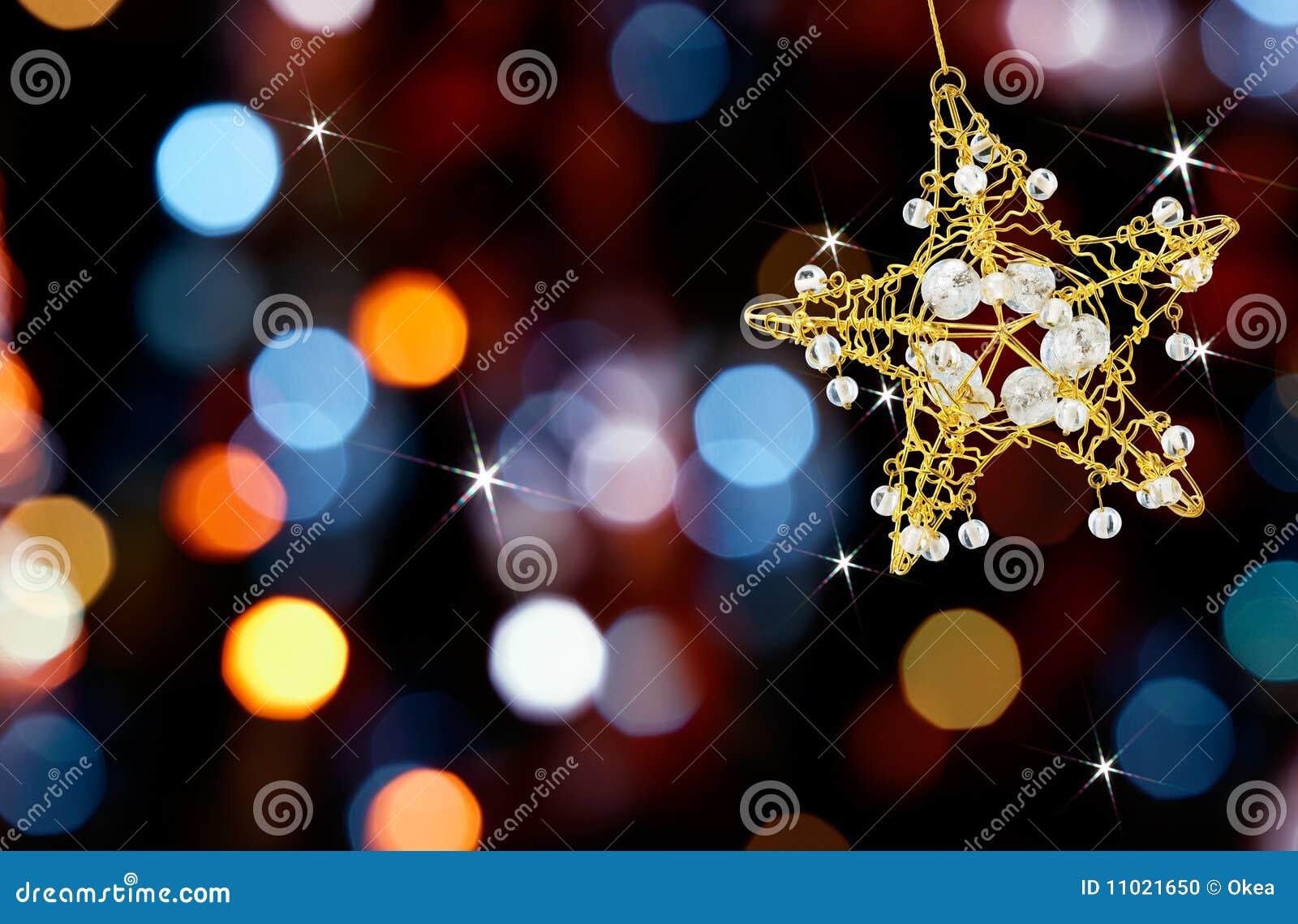 Estrella de la Navidad con las luces