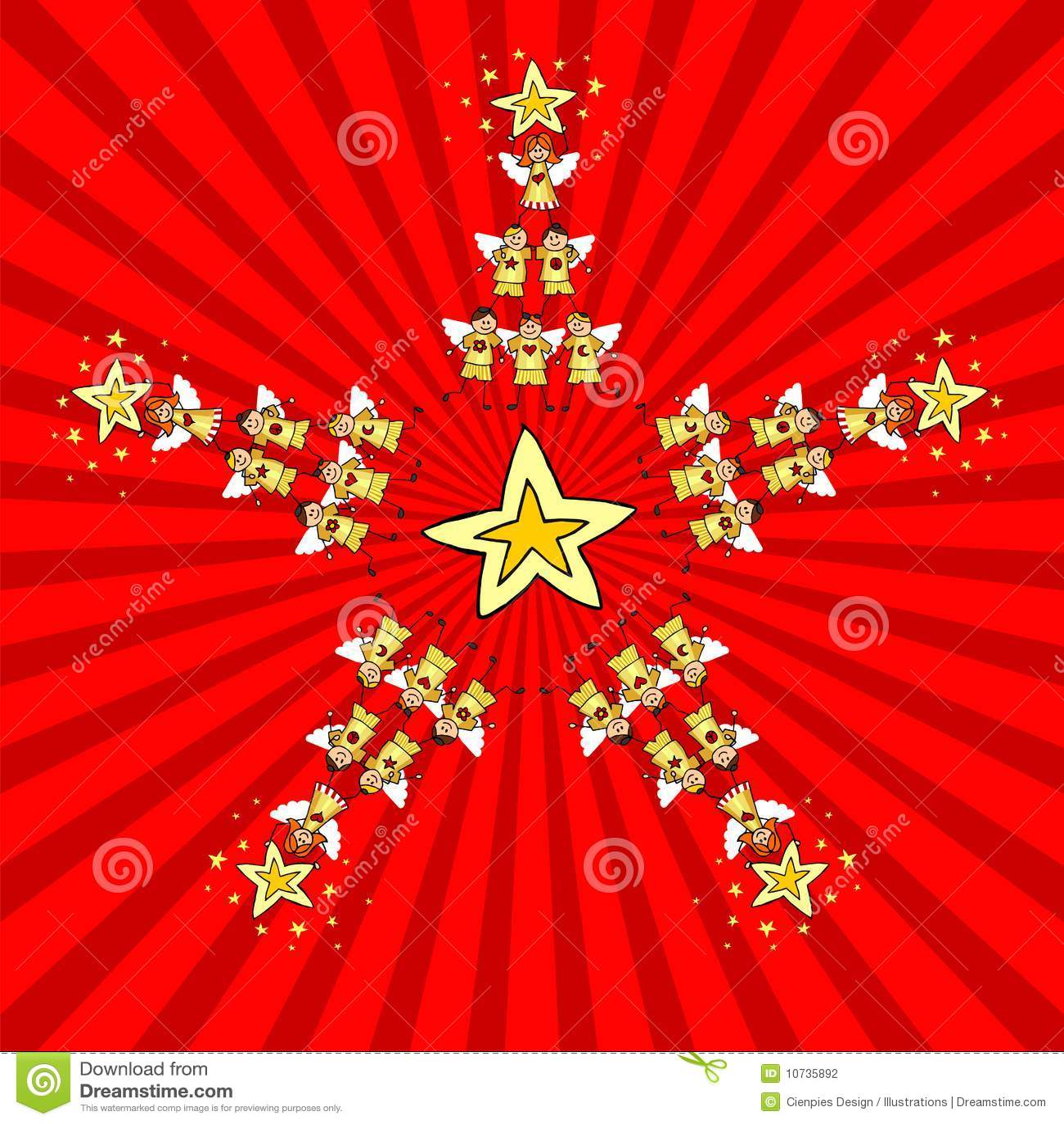Estrella de la Navidad de los cabritos