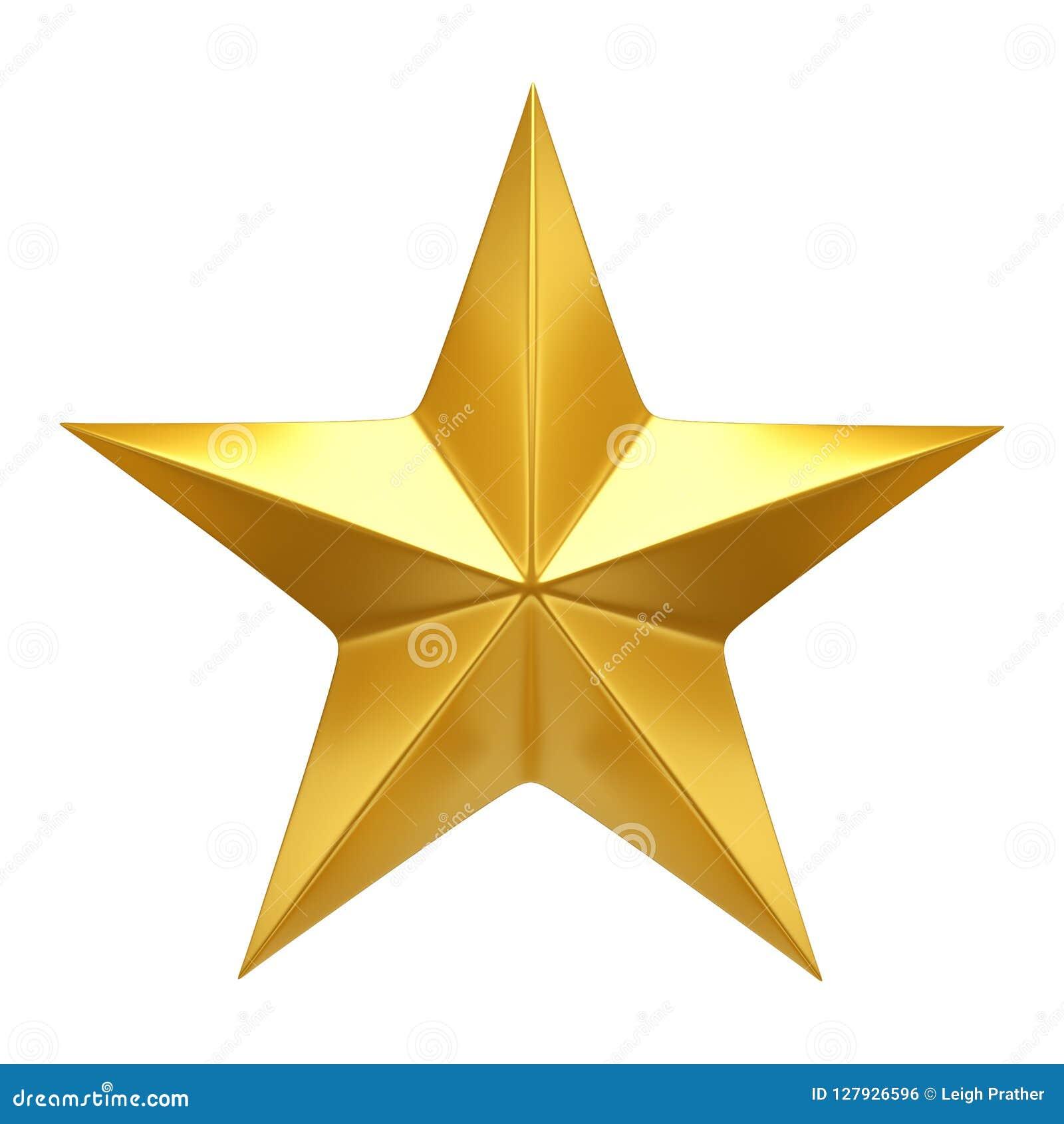 Estrella de oro - 3D rinden