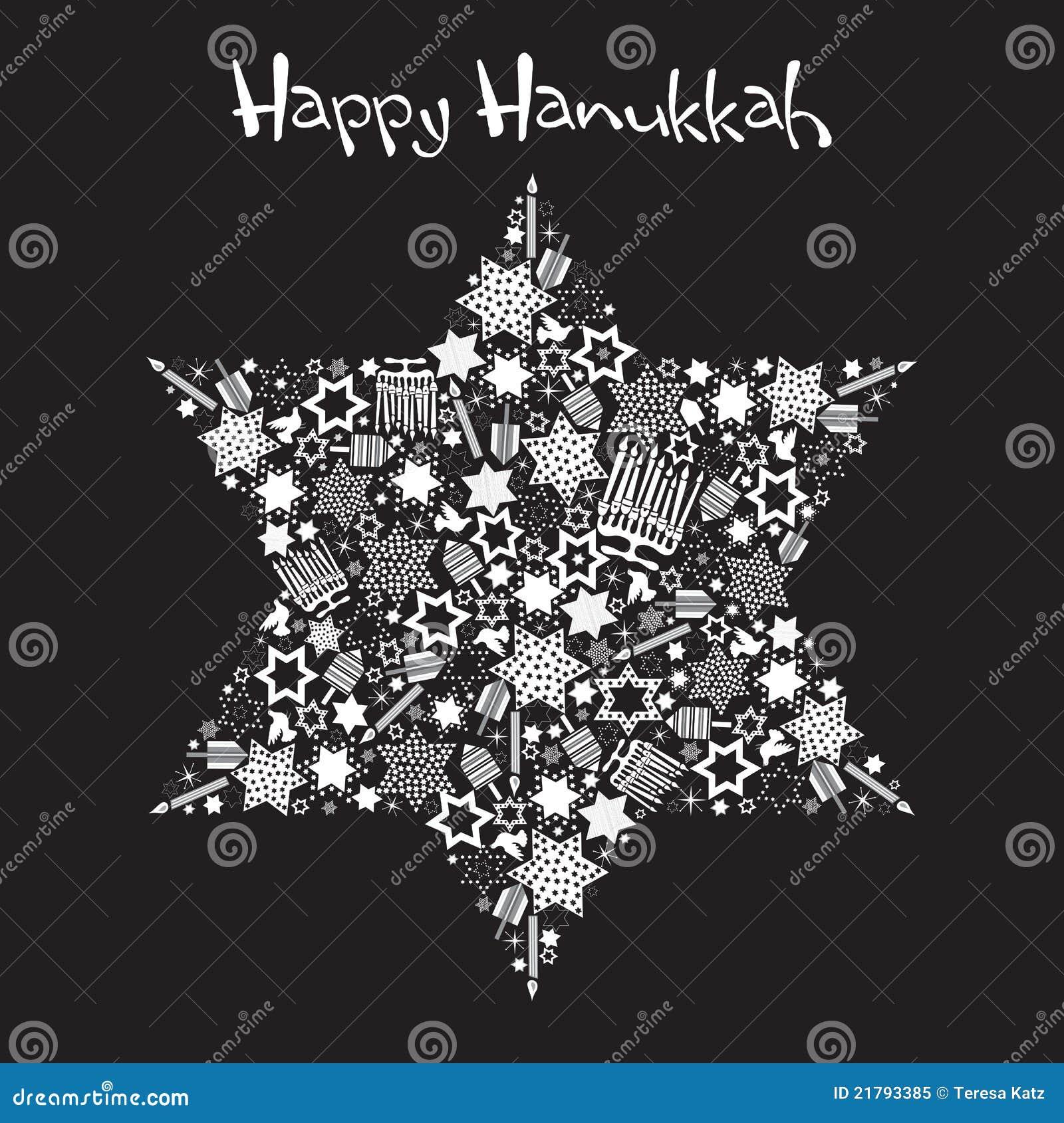 Estrella feliz de Hanukkah de David