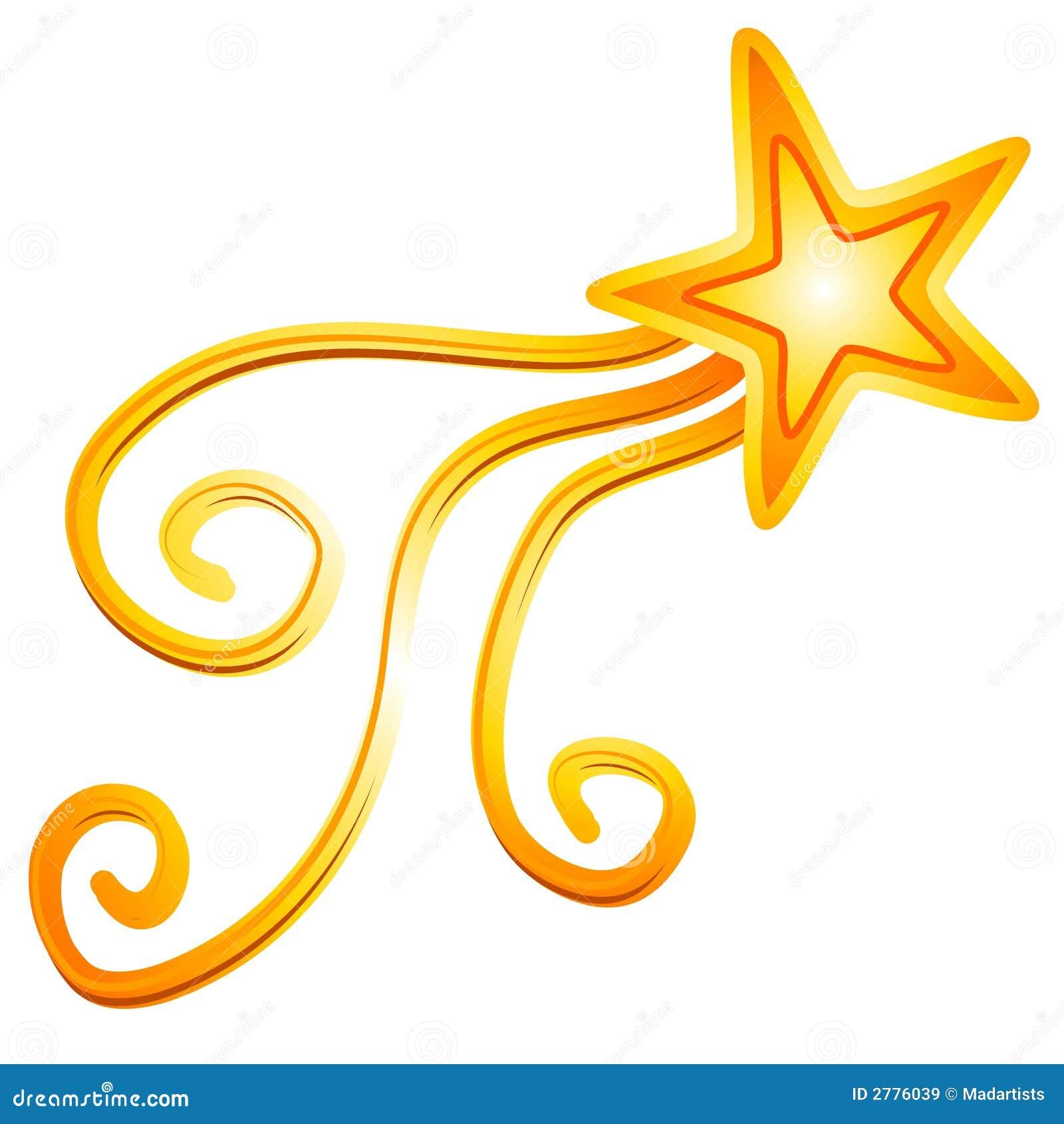 Estrella fugaz amarilla 2 del oro