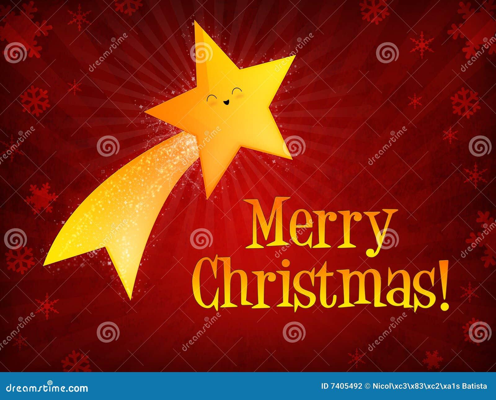 Estrella fugaz de la feliz navidad stock de ilustraci n for Estrella fugaz navidad
