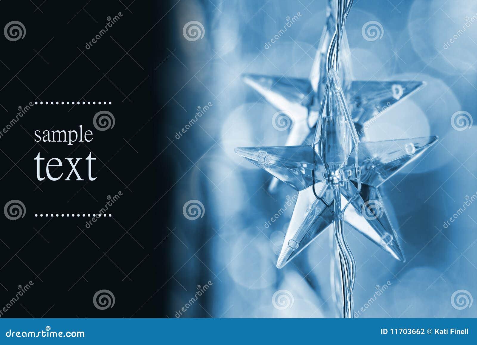 Estrellas azules de la Navidad