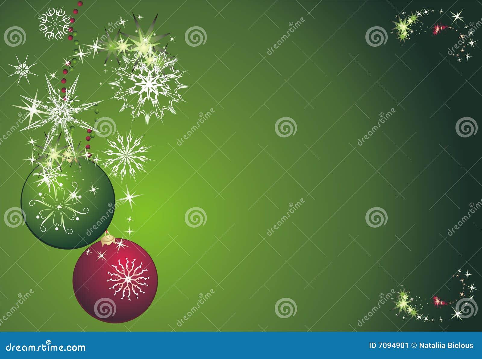 Estrellas copos de nieve y bolas tarjeta de navidad - Bolas gigantes de navidad ...