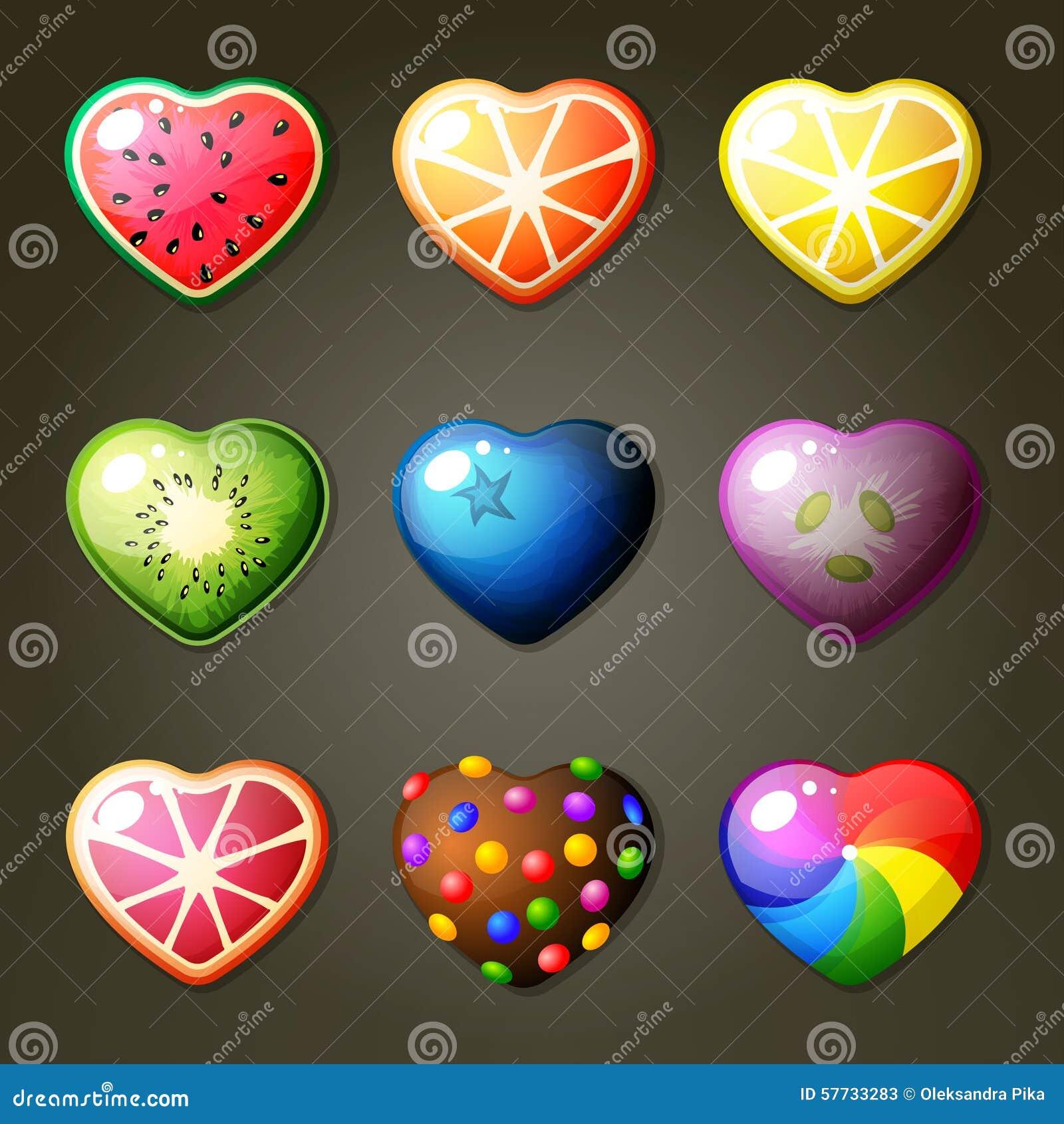 Estrellas de la fruta para el juego del partido tres