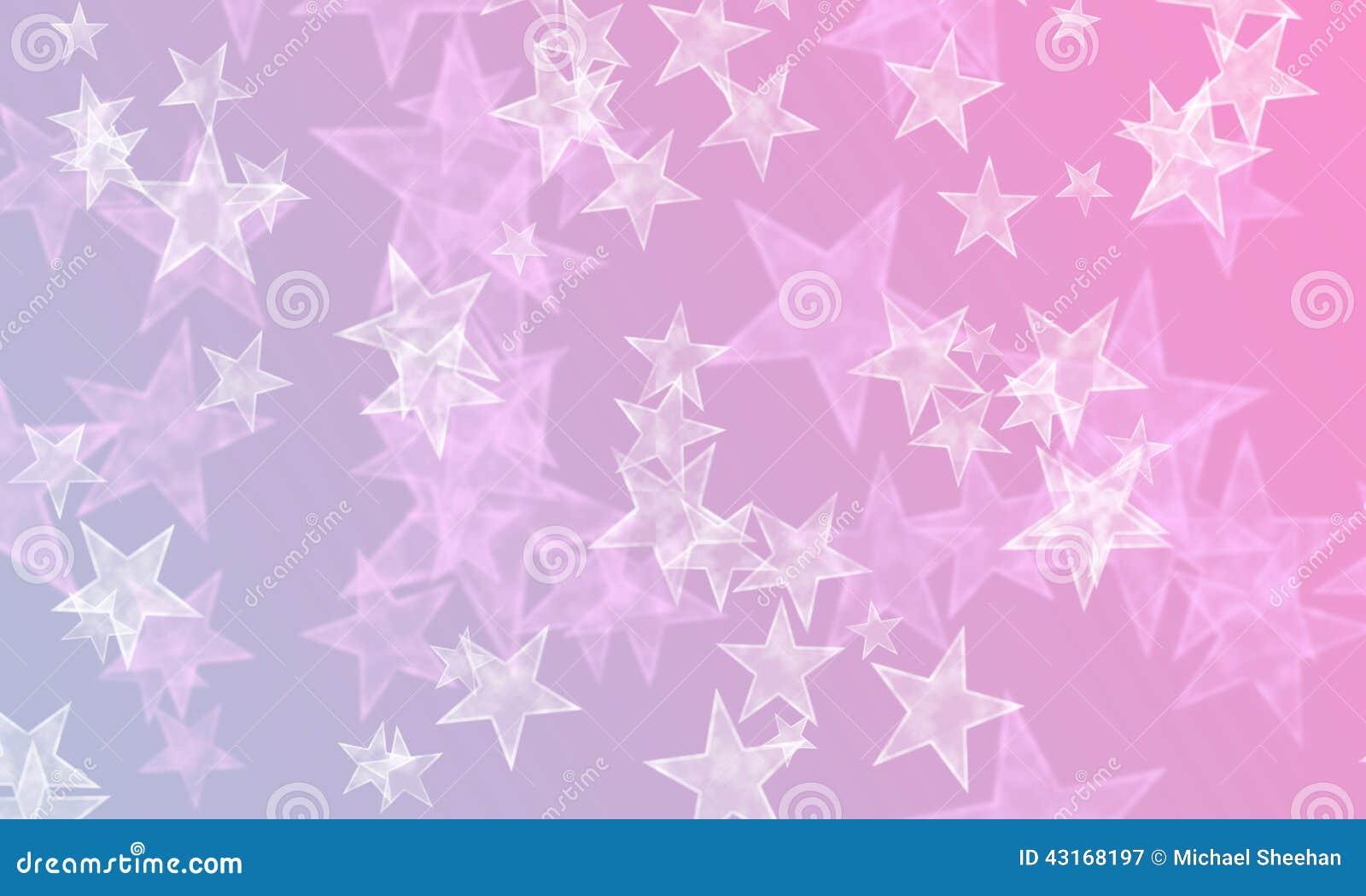Estrellas en azul y rosa