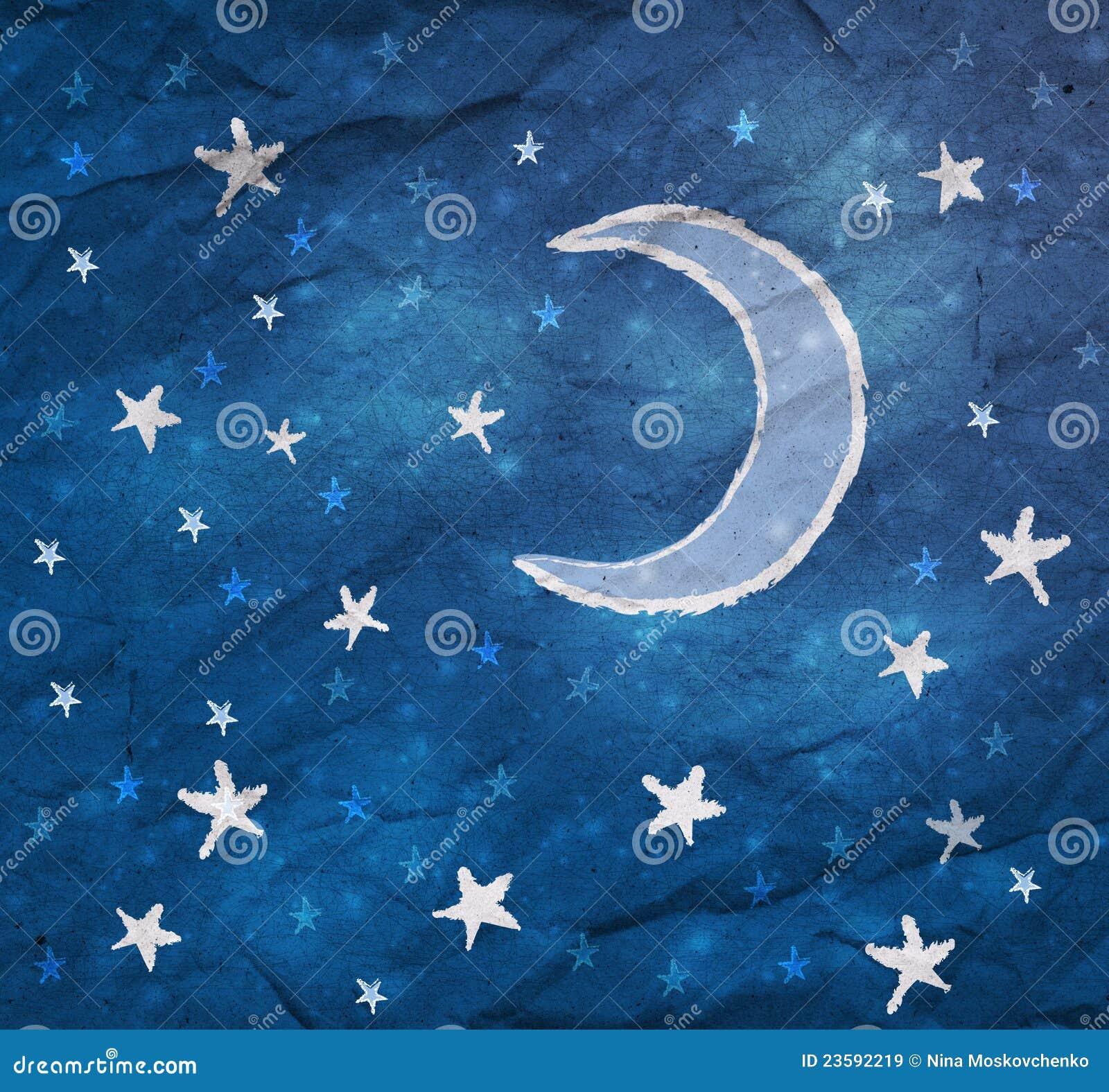 Image gallery la luna estrellas - Estrellas de papel ...