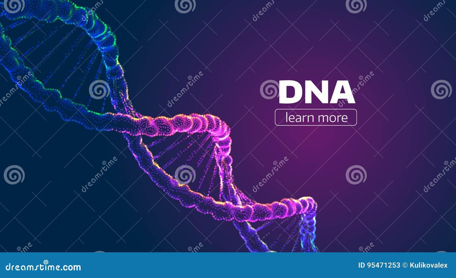 Estructura abstracta de la DNA del vector Fondo de la ciencia médica