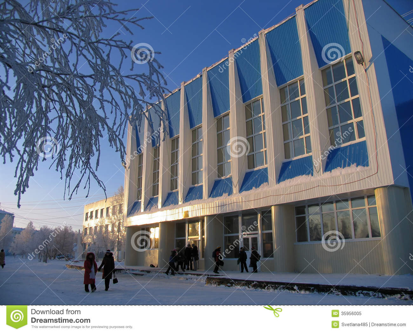 Estructura arquitectónica - escuela.