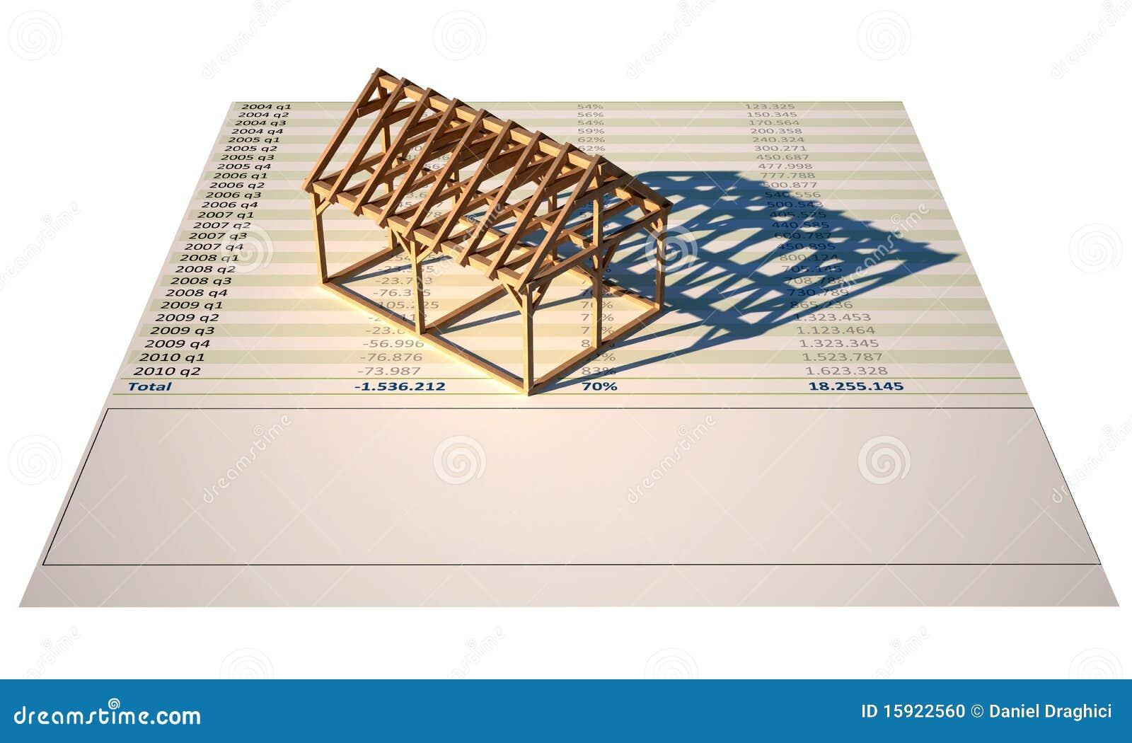 Estructura de la casa 3d bajo construcci n insolated stock - Precio estructura casa ...