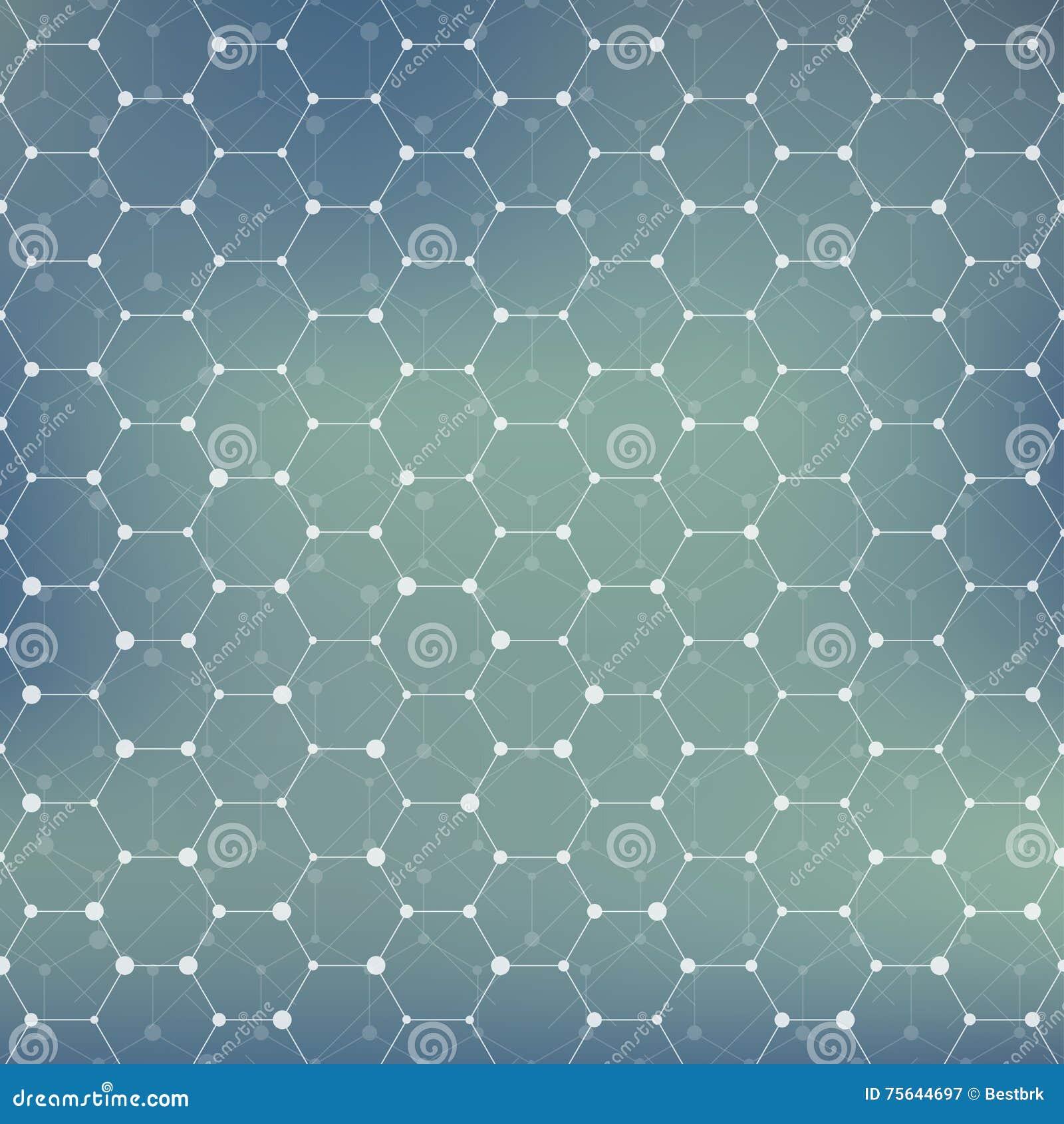 Estructura De La Conexión Fondo Abstracto Geométrico