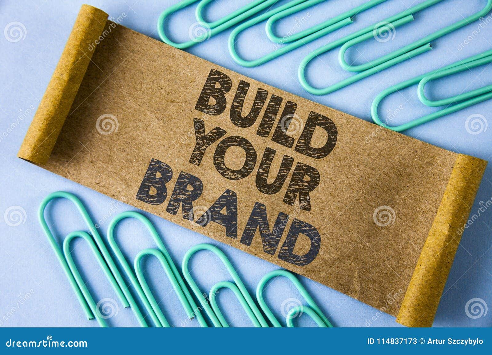 Estructura de la demostración de la muestra del texto su marca La foto conceptual crea su propio modelo del lema del logotipo que
