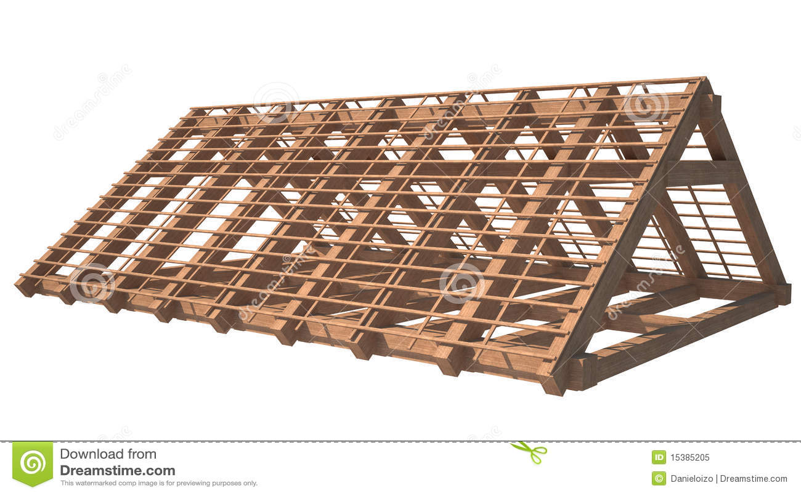 Estructura de madera de la azotea de la casa bajo - Estructura casa madera ...