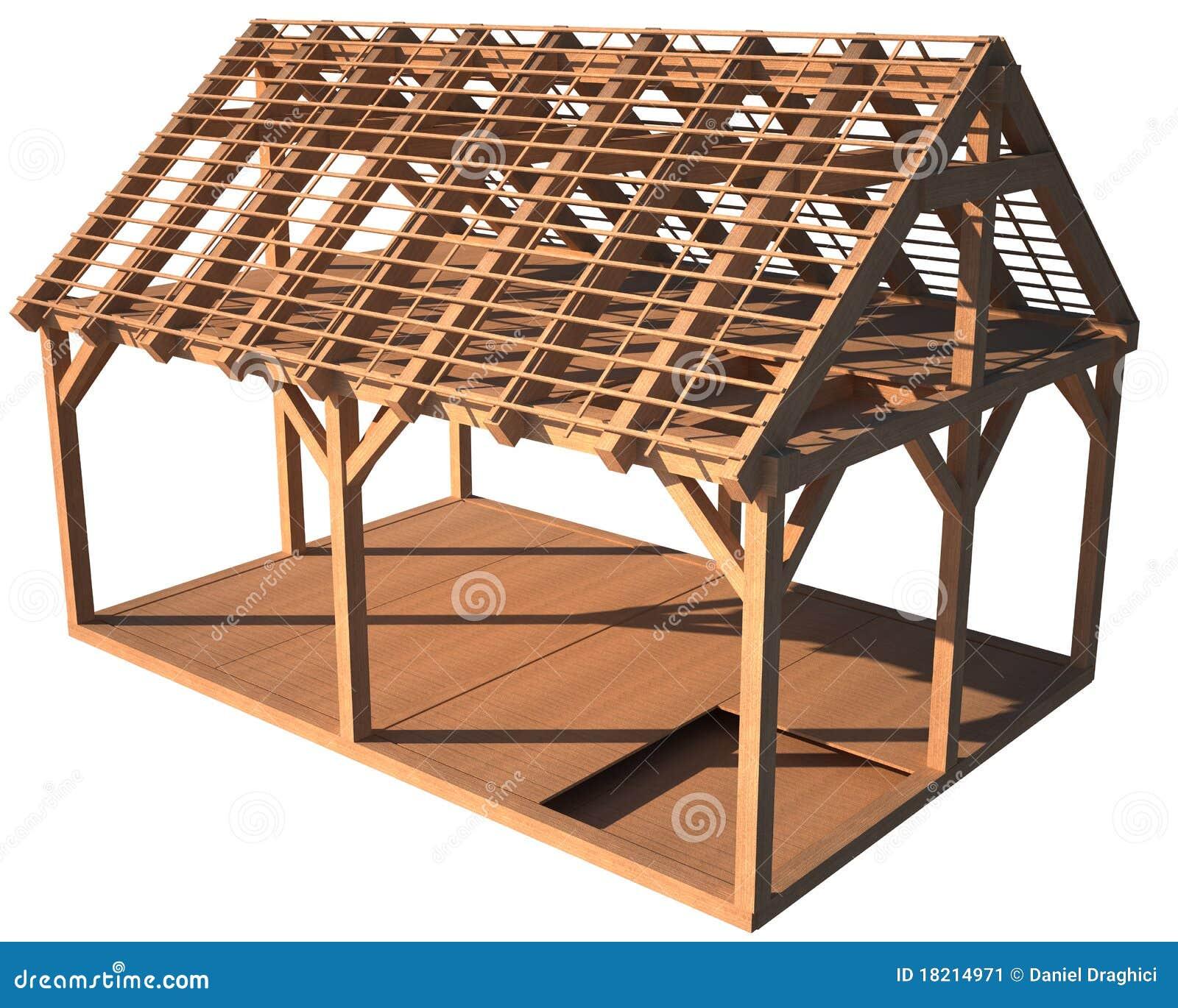 Estructura De Madera De La Casa Stock De Ilustración Ilustración De Casa Handwork 18214971