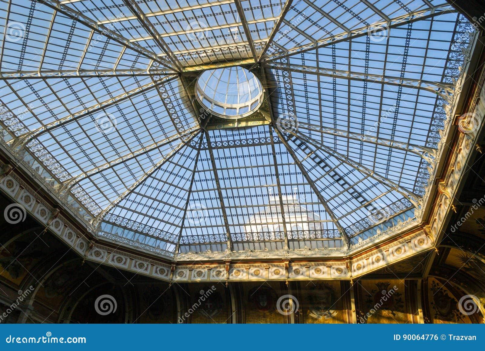 Estructura de tejado de acero y de cristal