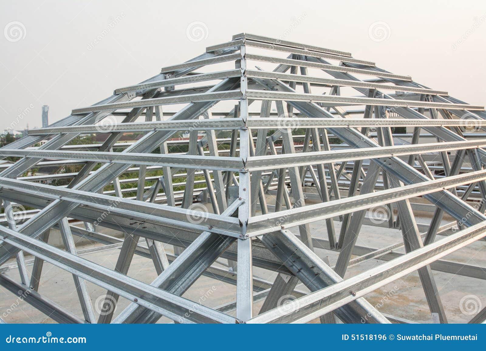 Estructura de tejado del metal foto de archivo imagen de tubo modelo 51518196 - Estructura de metal ...