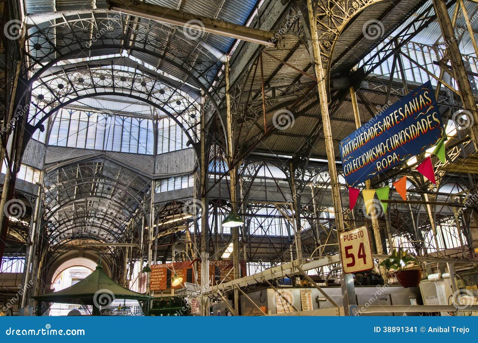 Estructura met lica interior del mercado de san telmo foto for Casa de diseno san telmo