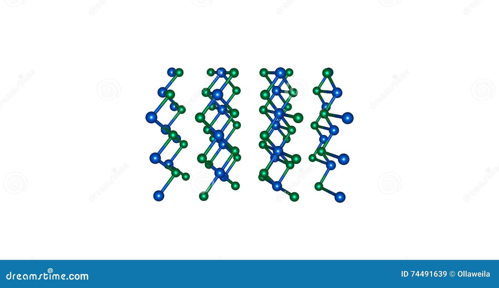 Estructura Molecular Del Cloruro Del Cadmio Aislada En