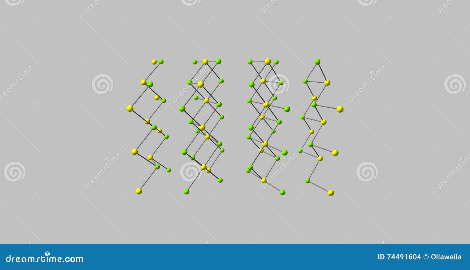 Estructura Molecular Del Cloruro Del Cadmio En Gris Stock De