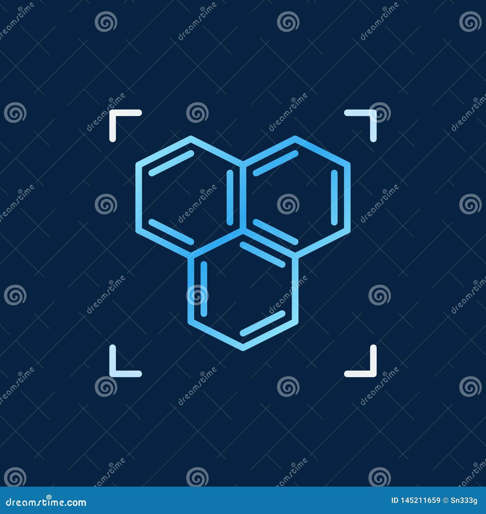 Estructura Química O Icono Coloreado Vector Del Esquema De