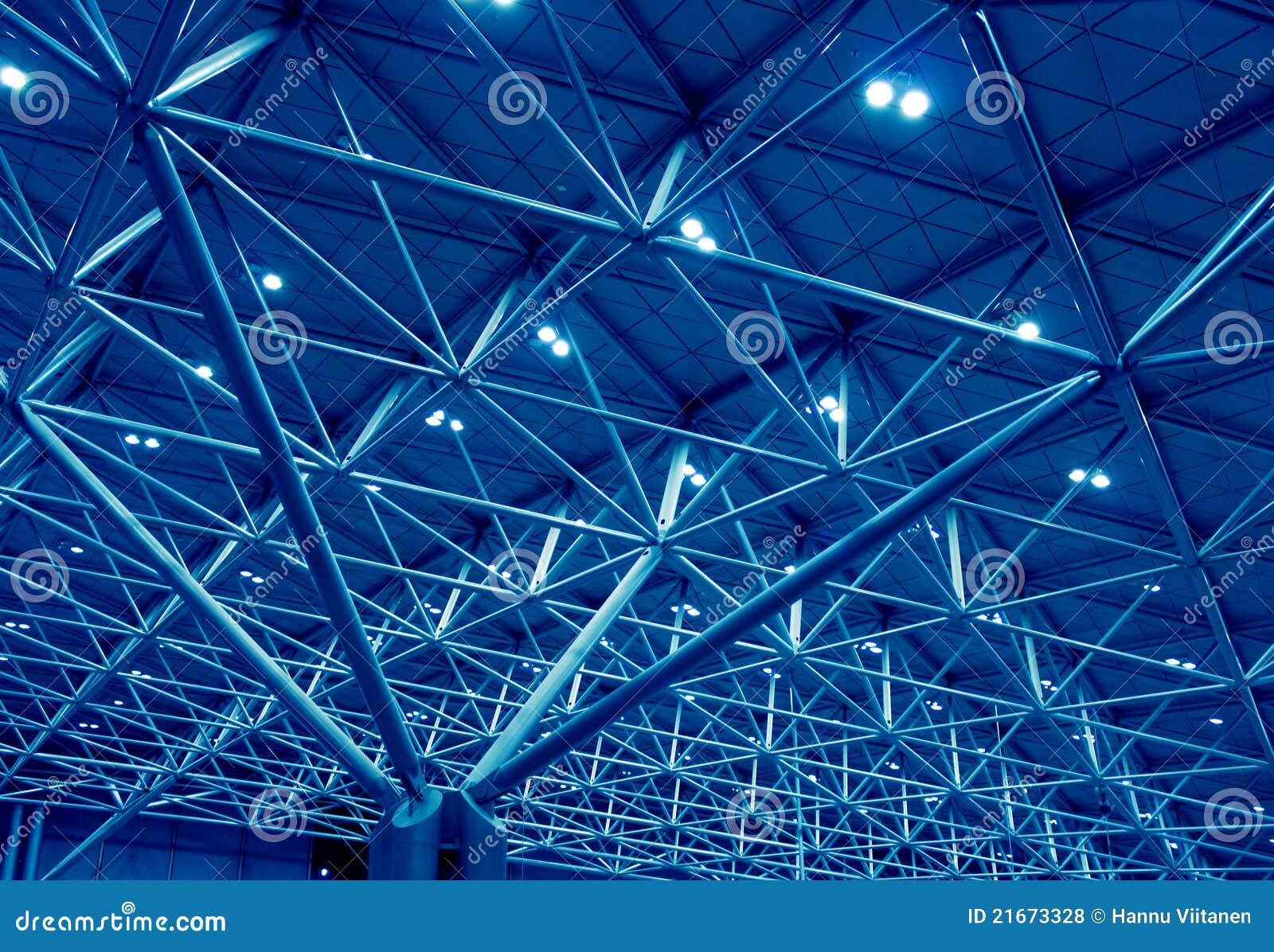 Estrutura azul da sustentação