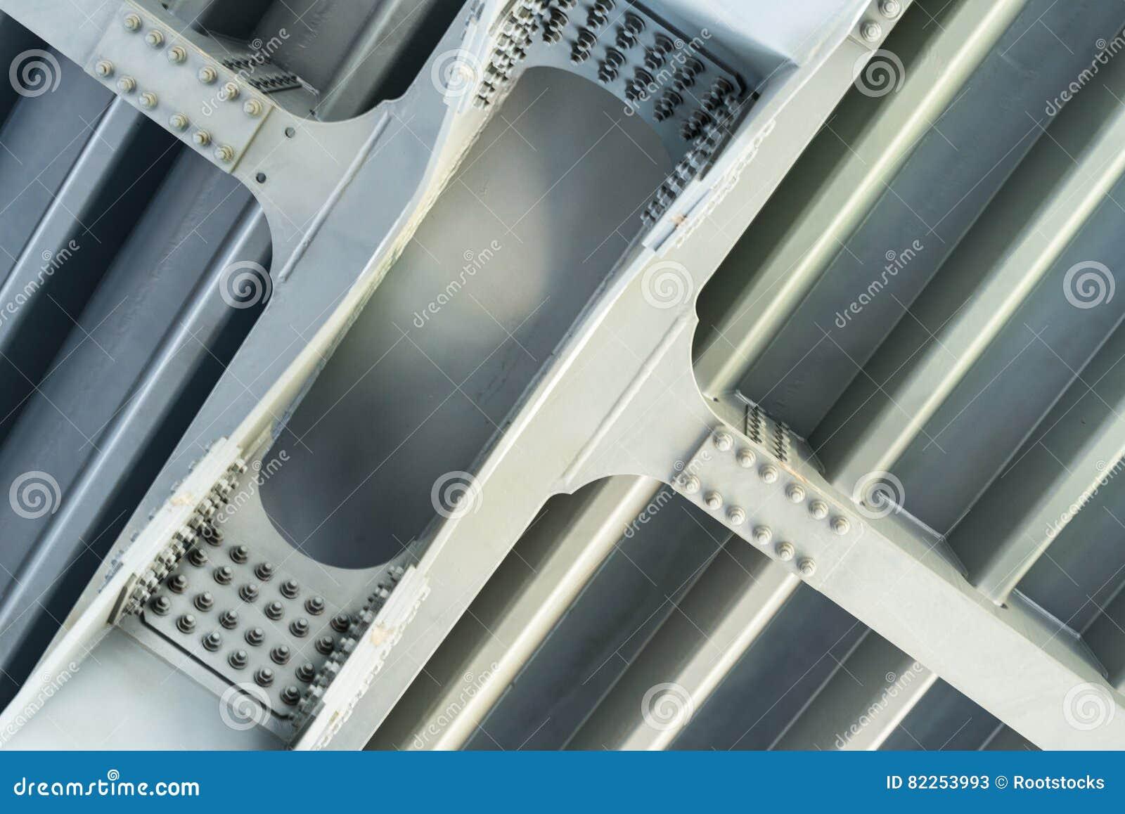 Estrutura cinzenta do metal Fim acima