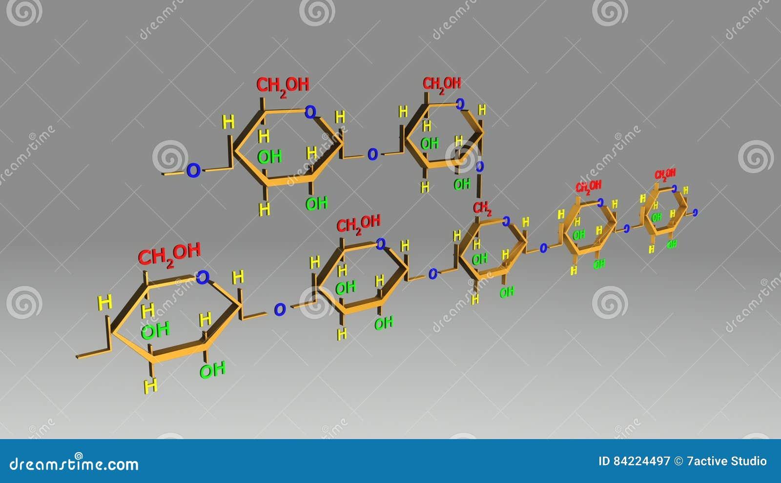 Estrutura Da Amilopectina Ilustração Stock Ilustração De