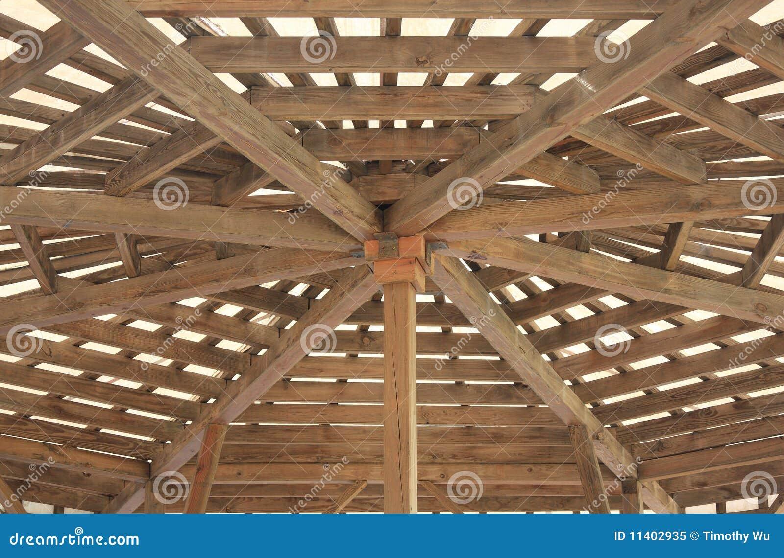 Estrutura De Madeira Do Telhado Foto de Stock Royalty Free Imagem  #85AB20 1300x943