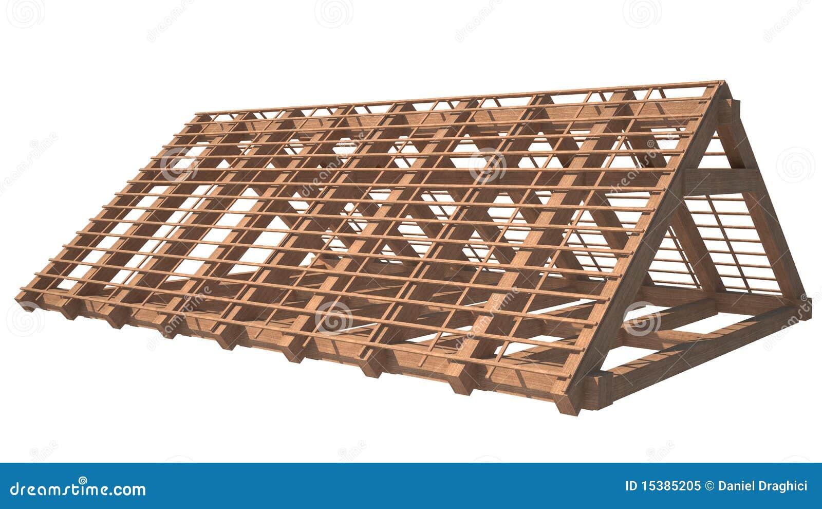 Foto de Stock Royalty Free: Estrutura de madeira do telhado da casa  #84A625 1300x821