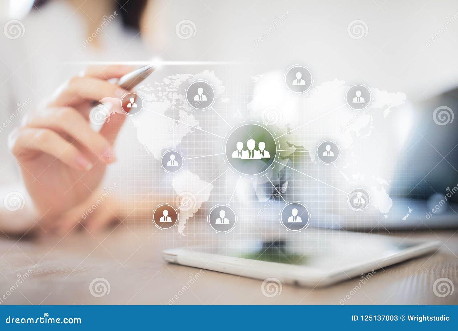 Estrutura de organização dos povos Hora Recursos humanos e recrutamento Uma comunicação, tecnologia do Internet Conceito do negóc