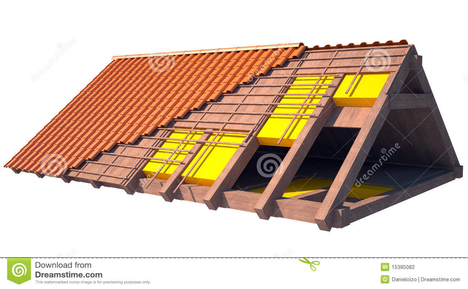 Estrutura De Telhado Da Casa Sob A Constru 231 227 O No Branco