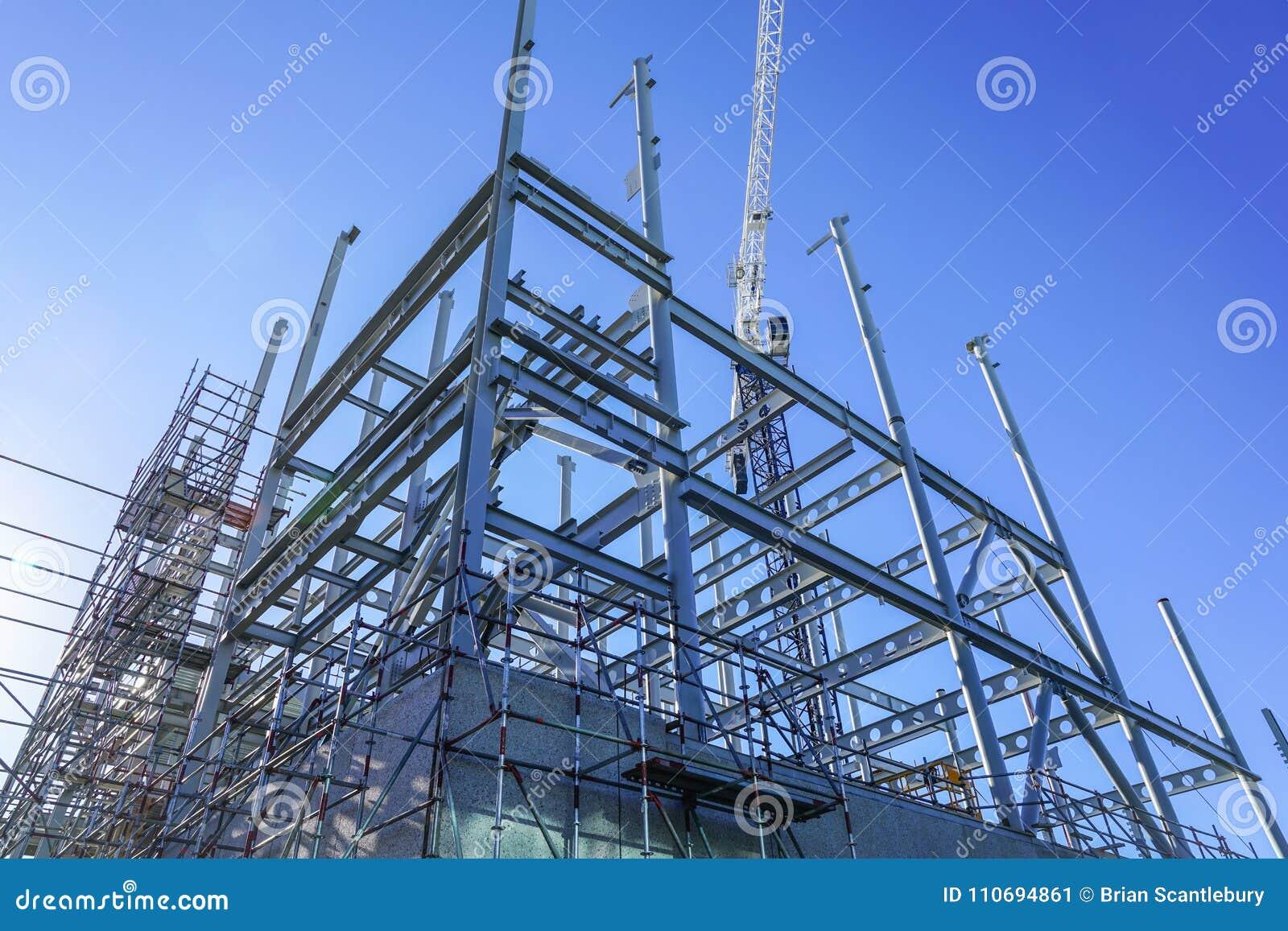 Estrutura do aço estrutural para a construção nova