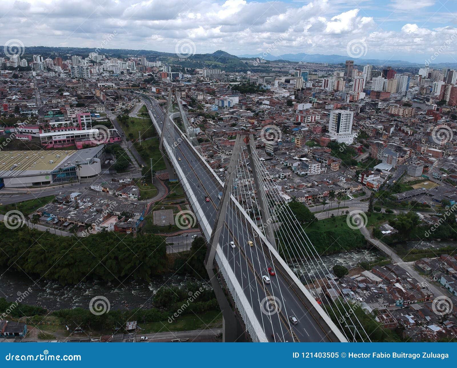 A estrutura grande em Pereira Risaralda Colômbia