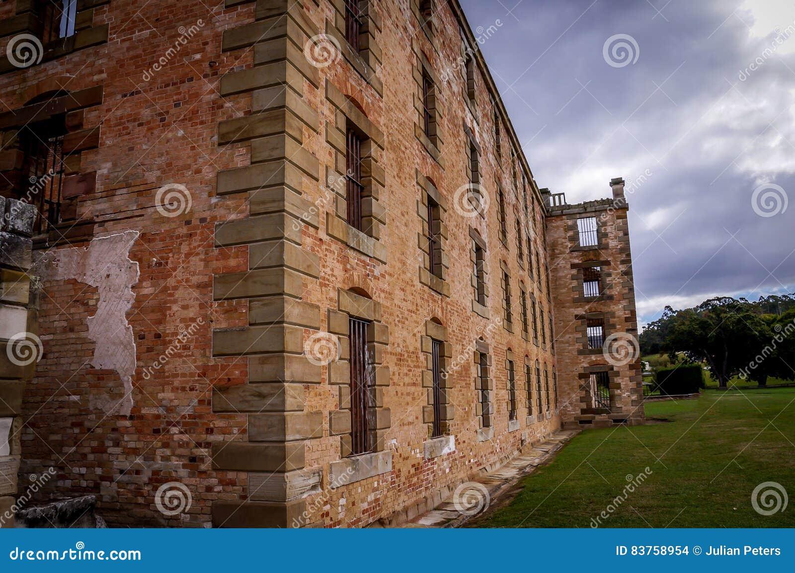 Estruturas históricas do condenado no Port Arthur, Tasmânia, Austrália
