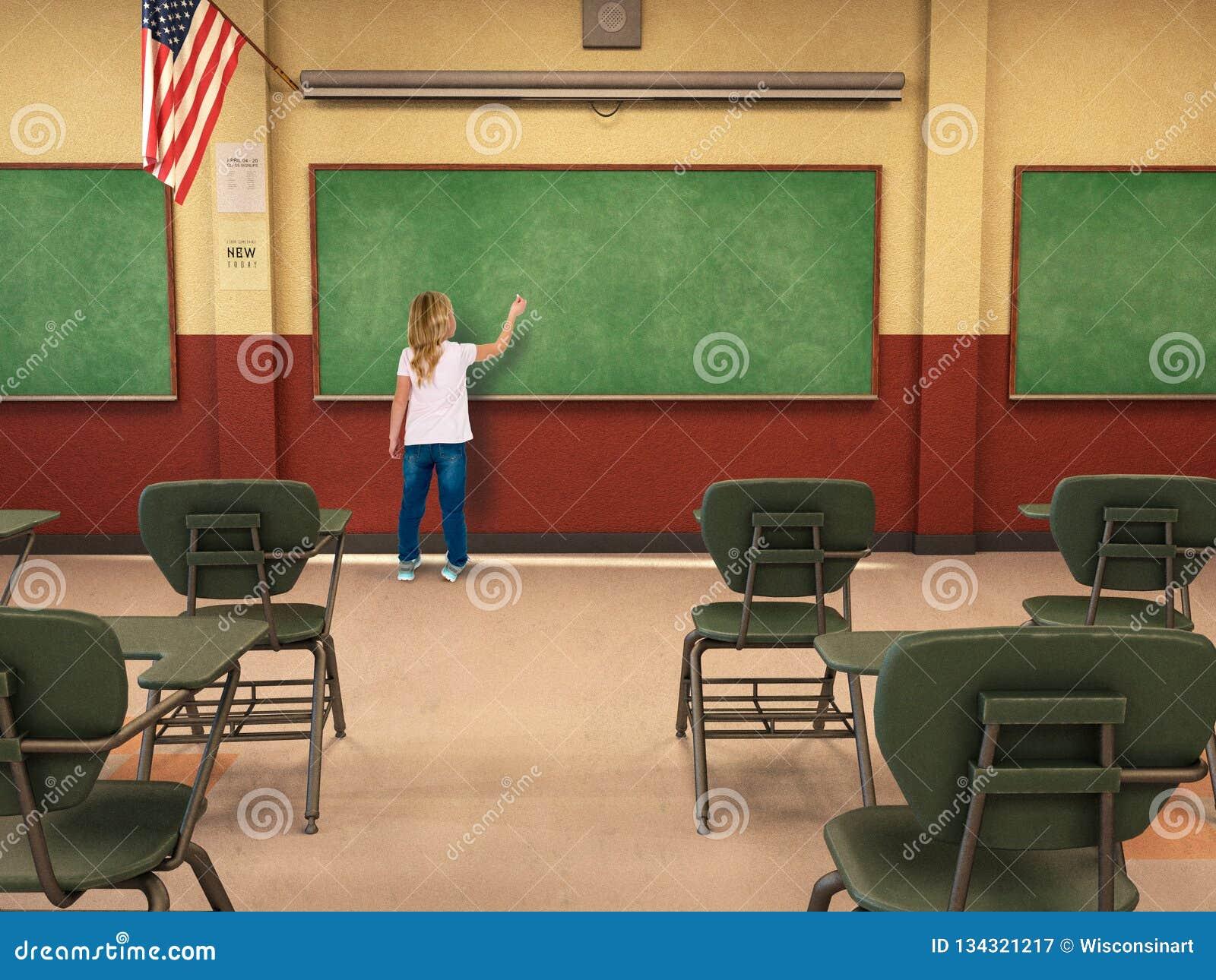 Estudante, educação, escola, sala de aula, aprendendo, quadro, crianças