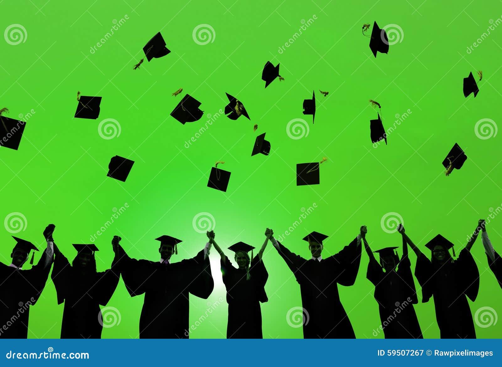Estudante Success Learning Concep da graduação da educação da celebração