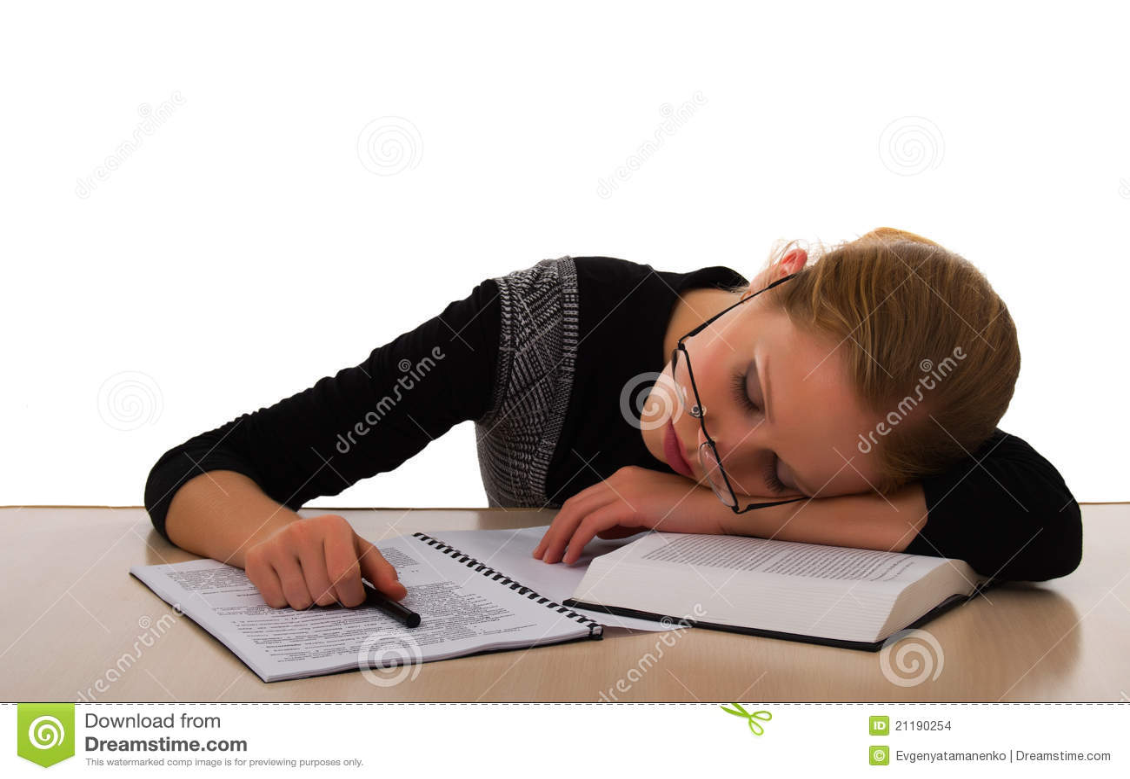 Estudante Tired