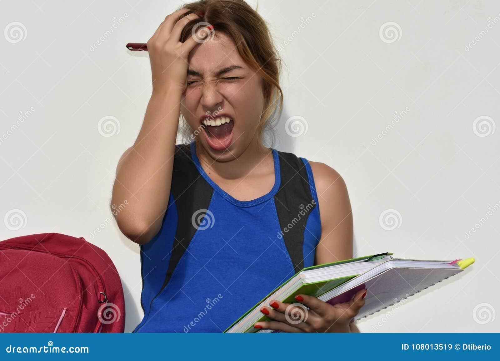 Estudiante adolescente And Stress