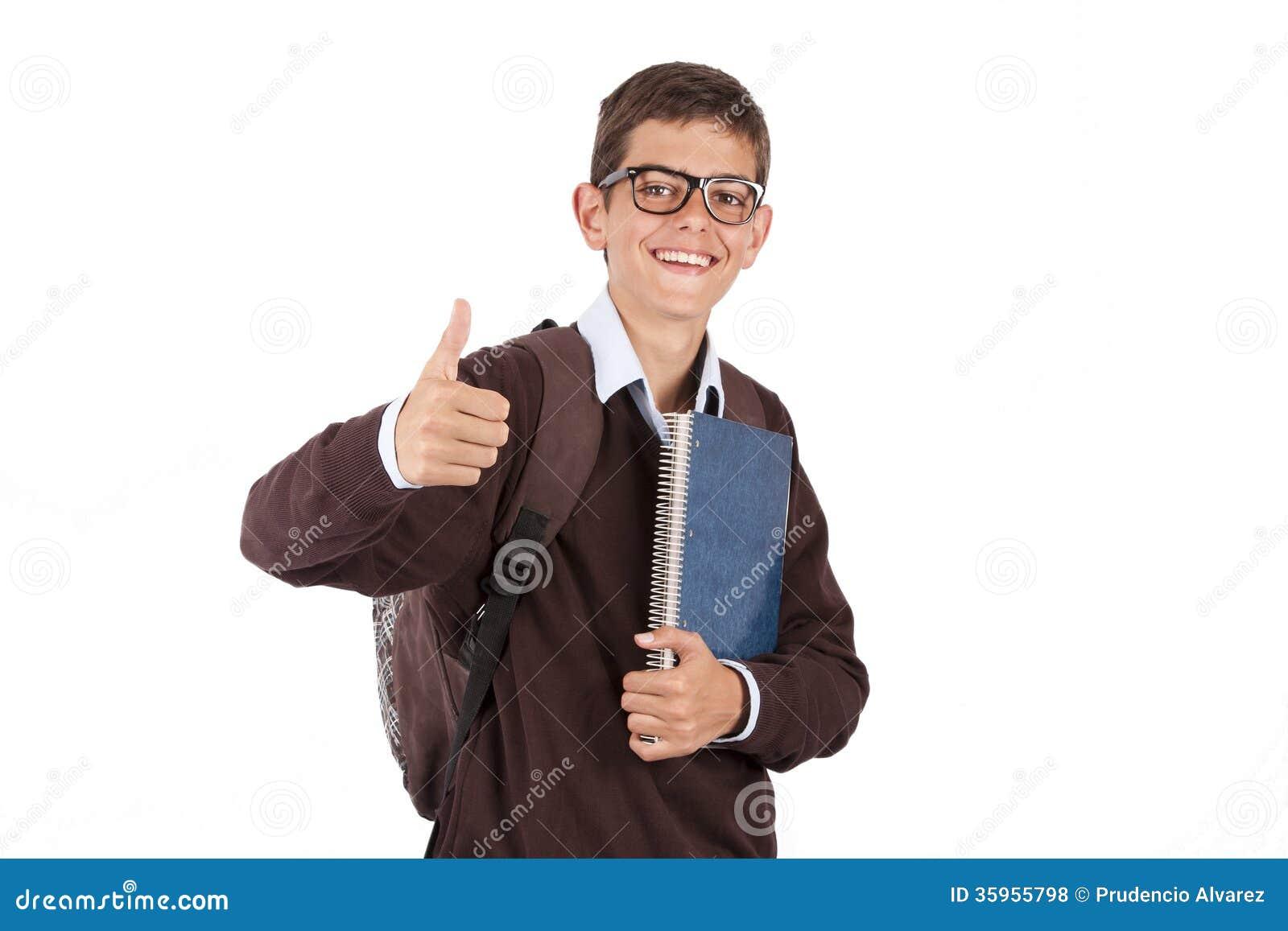 Estudiante joven con el cuaderno